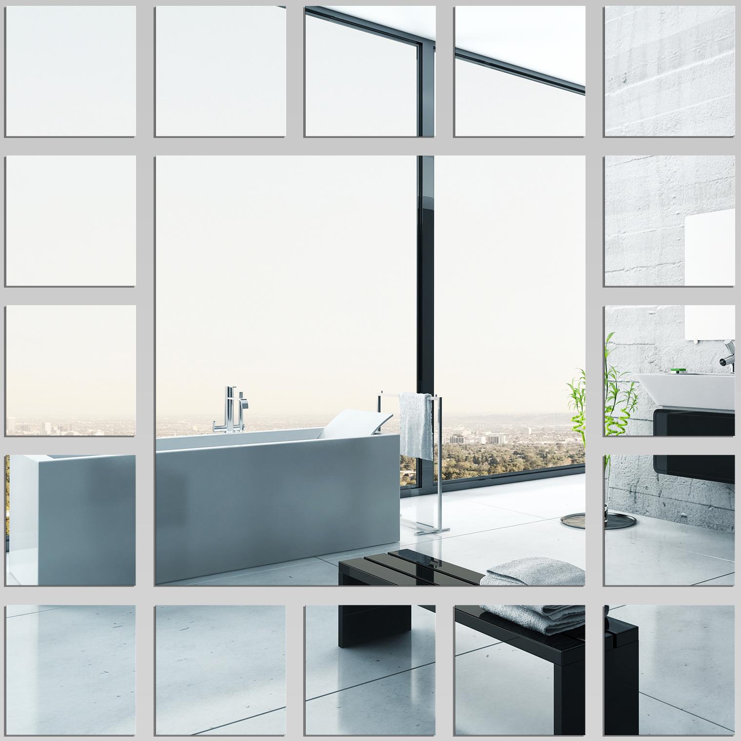 Miroir plexiglass acrylique carr s minimaxi pas cher for Miroir 70x70