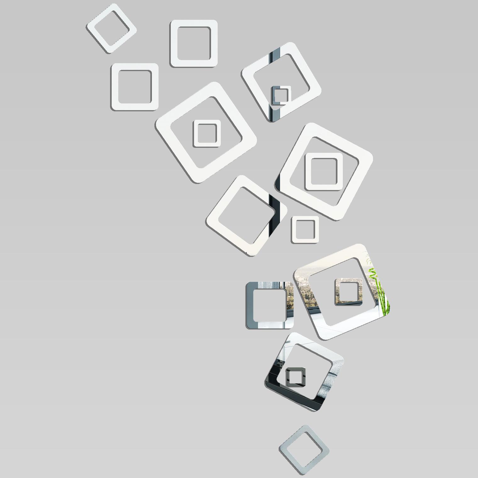 Miroir plexiglass acrylique design carr pas cher for Miroir 90x140