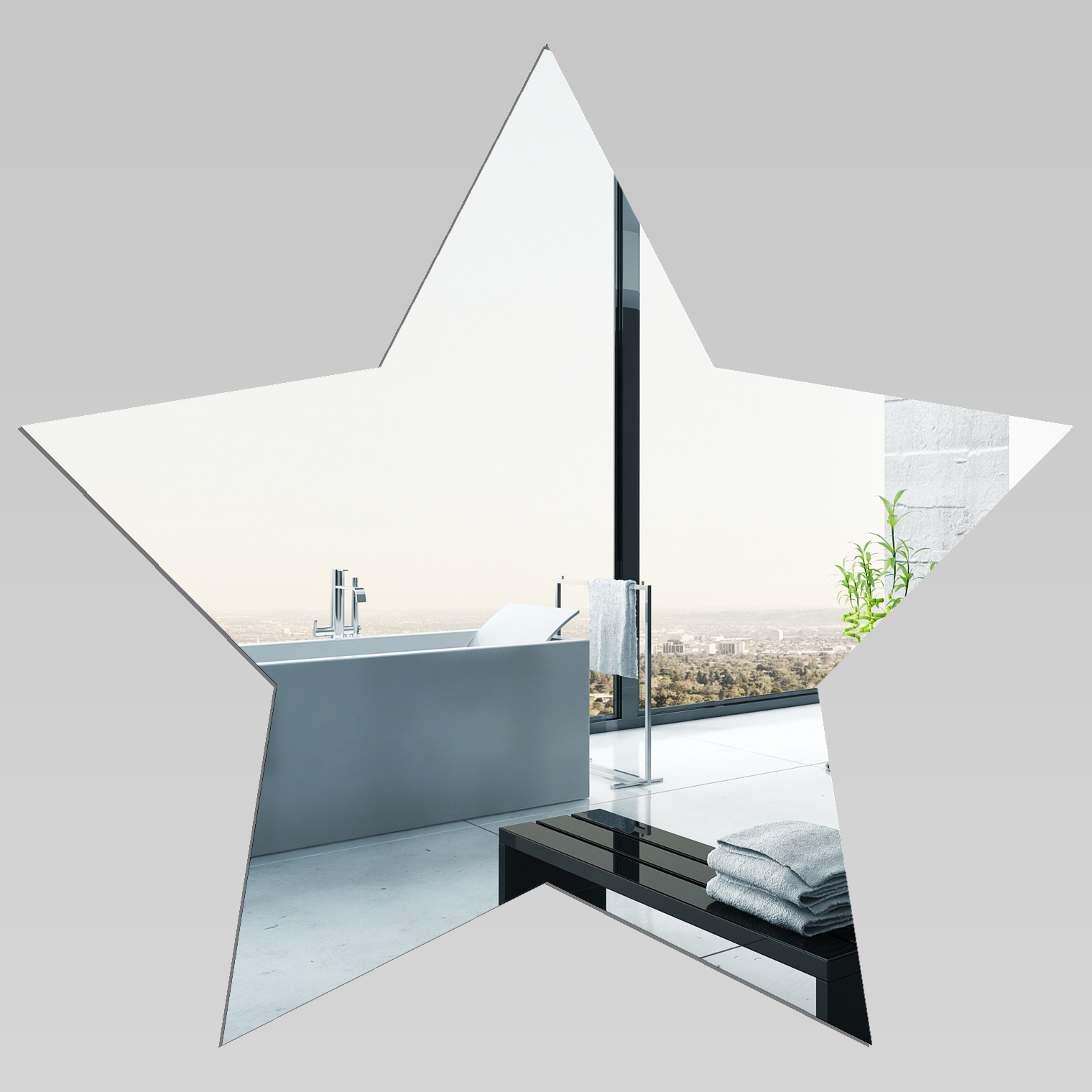 miroir plexiglass acrylique etoile pas cher. Black Bedroom Furniture Sets. Home Design Ideas