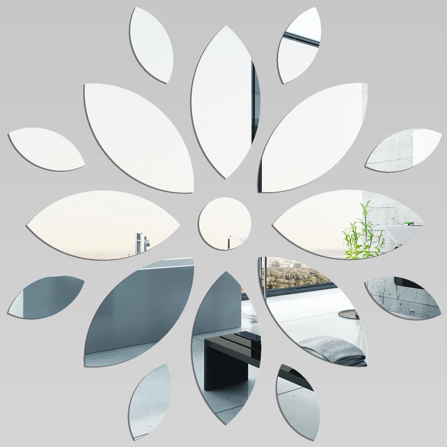 Miroir plexiglass acrylique fleur pas cher for Miroir en acrylique