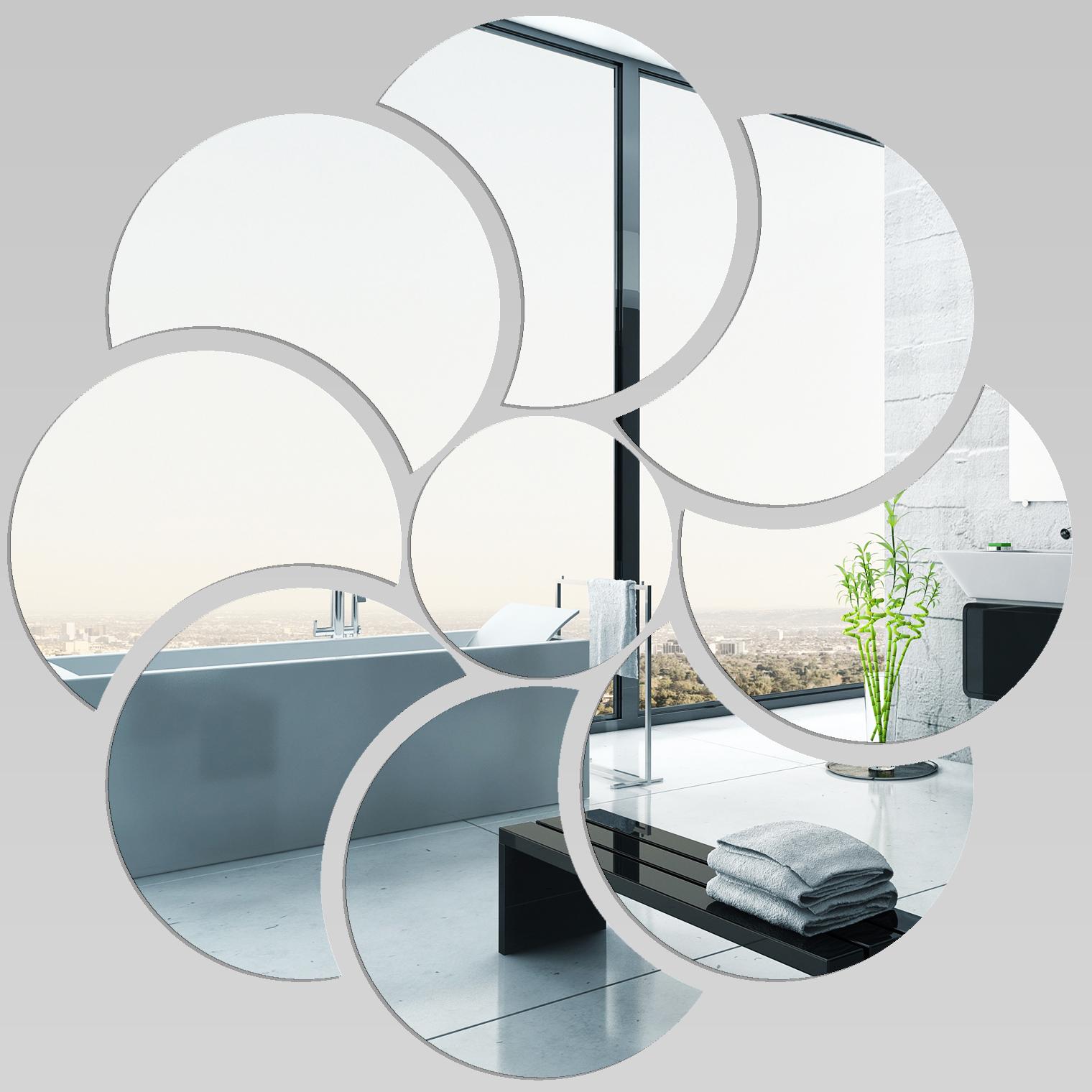 Miroir plexiglass acrylique fleur 5 pas cher for Miroir 100x100