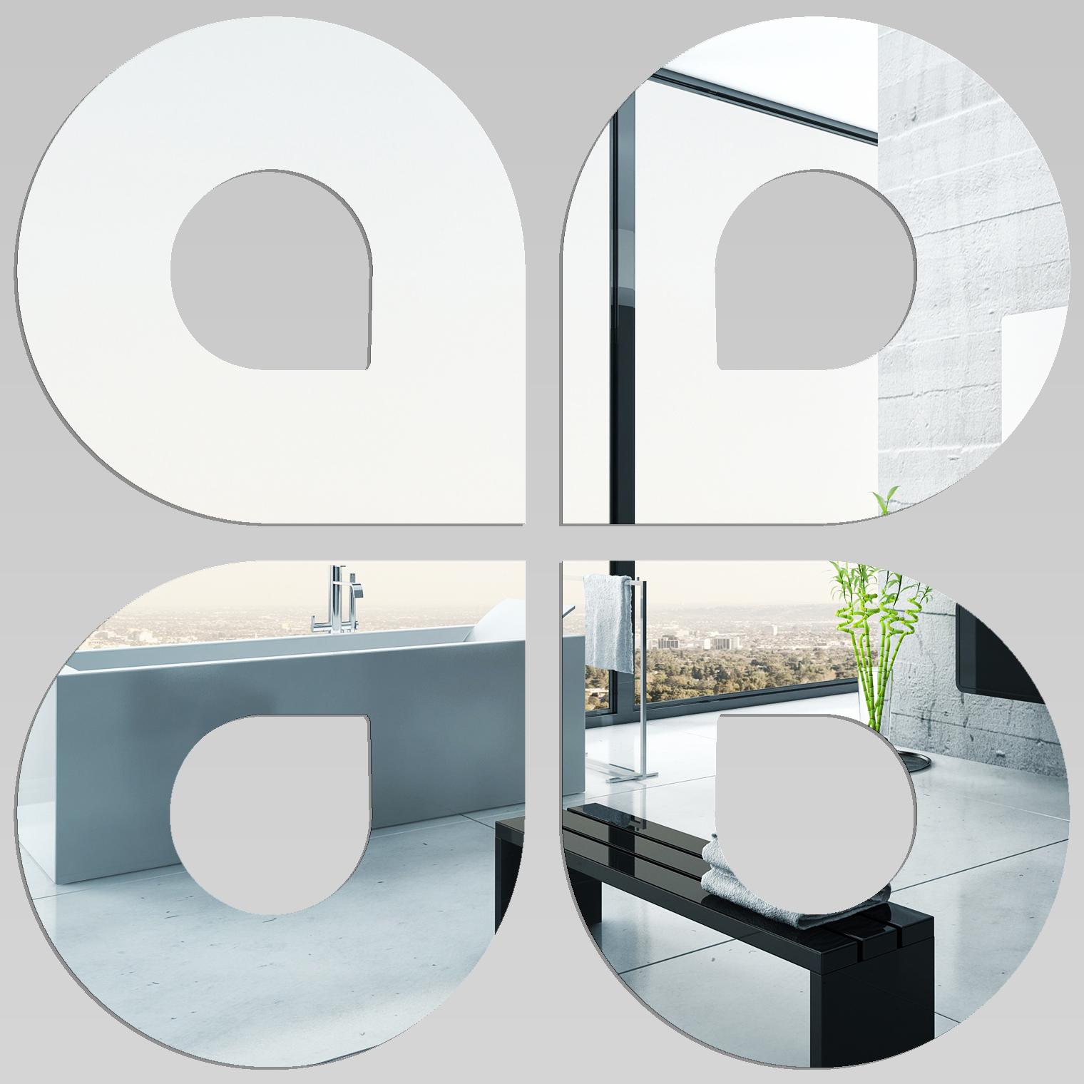 Miroir plexiglass acrylique gouttes maxi pas cher for Miroir 80x80