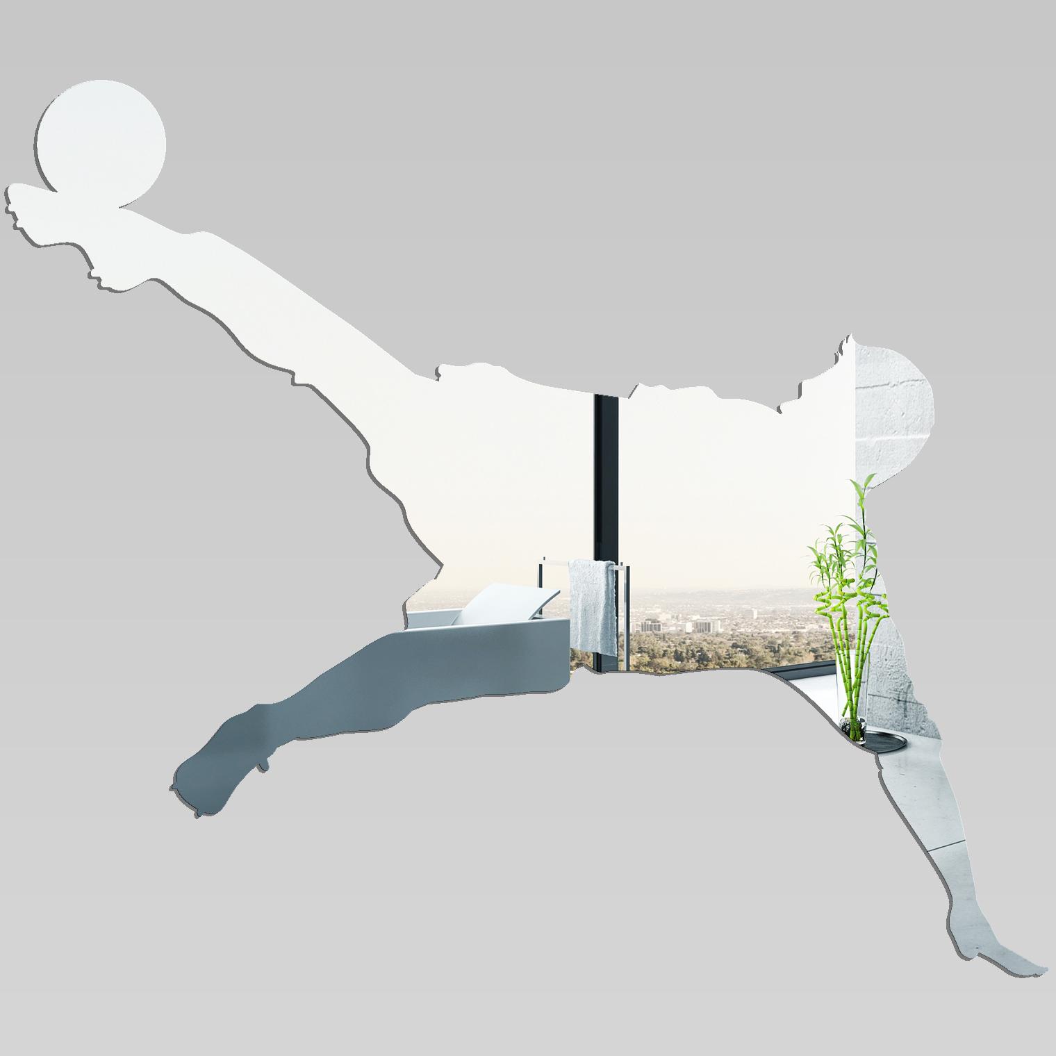 Miroir plexiglass acrylique joueur de foot pas cher for Miroir en acrylique
