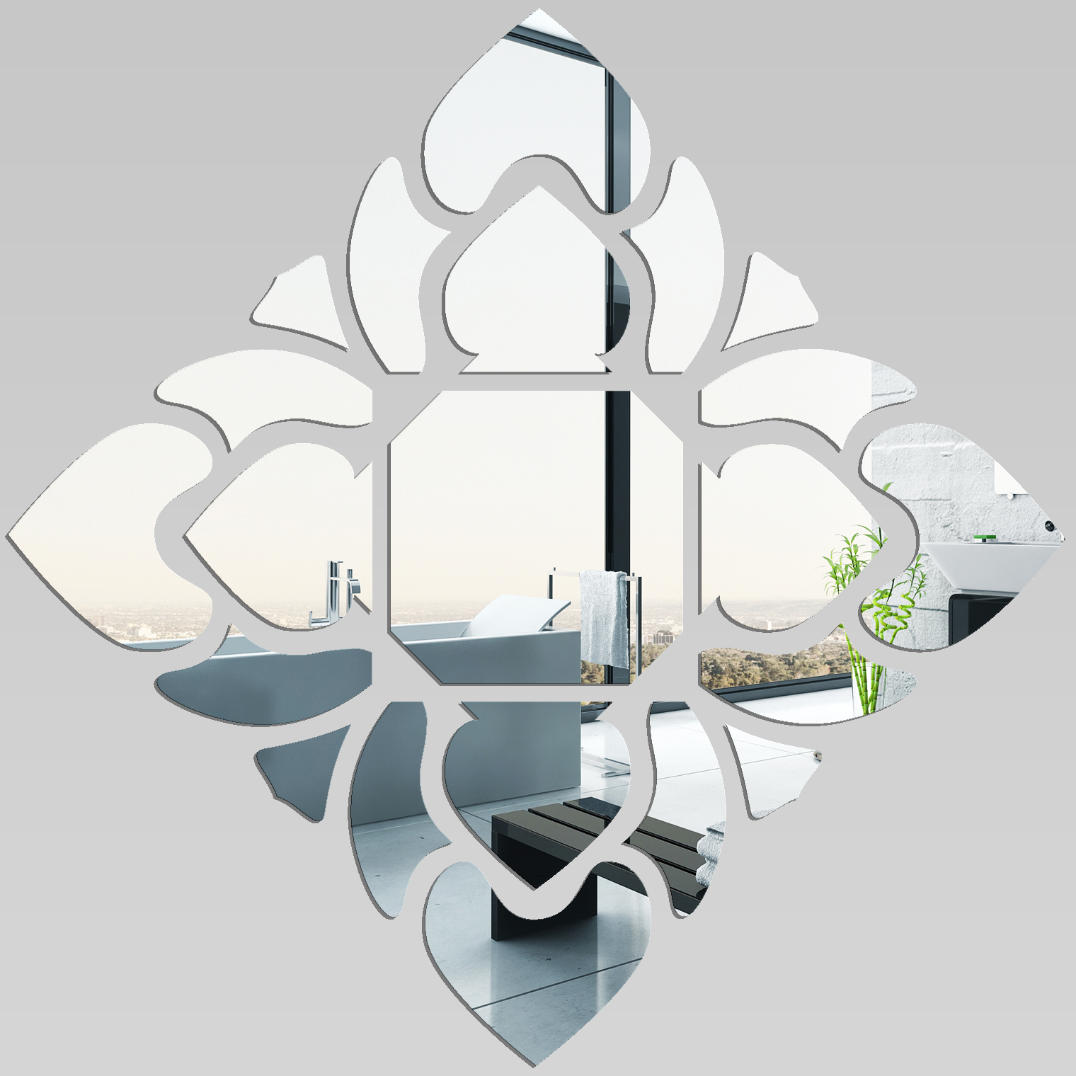 Miroir plexiglass acrylique losange design pas cher for Miroir 80x80