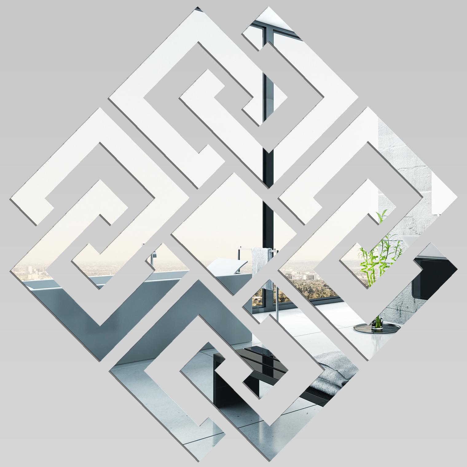 miroir acrylique plexiglass losange design 2 - Miroir Design Pas Cher