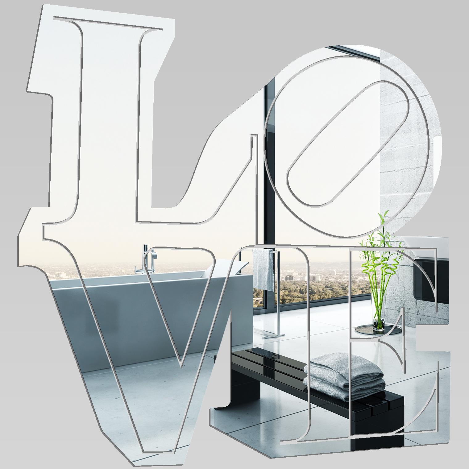 Miroir plexiglass acrylique love 1 pas cher for Miroir acrylique