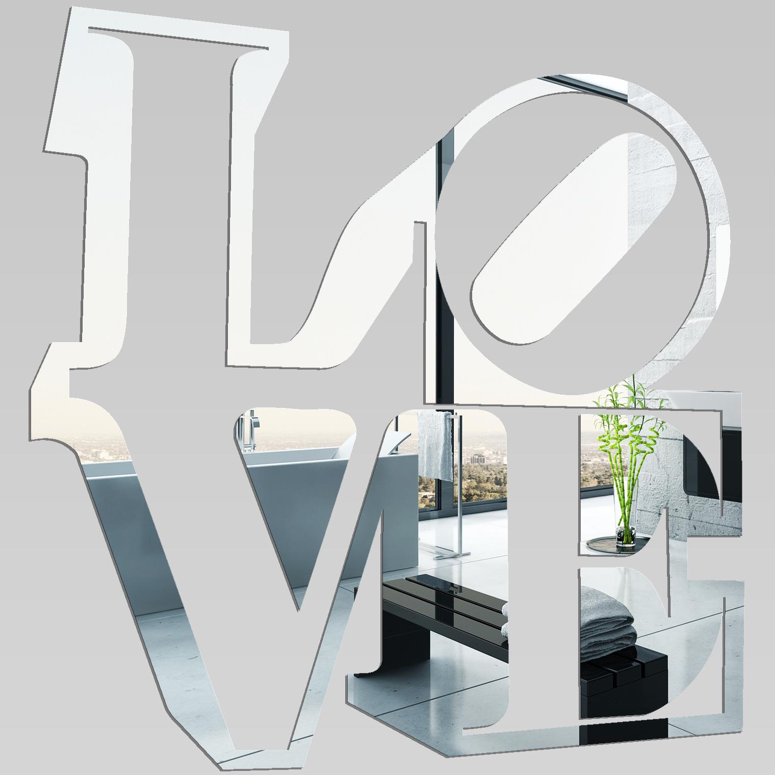 Miroir plexiglass acrylique love pas cher for Miroir en acrylique