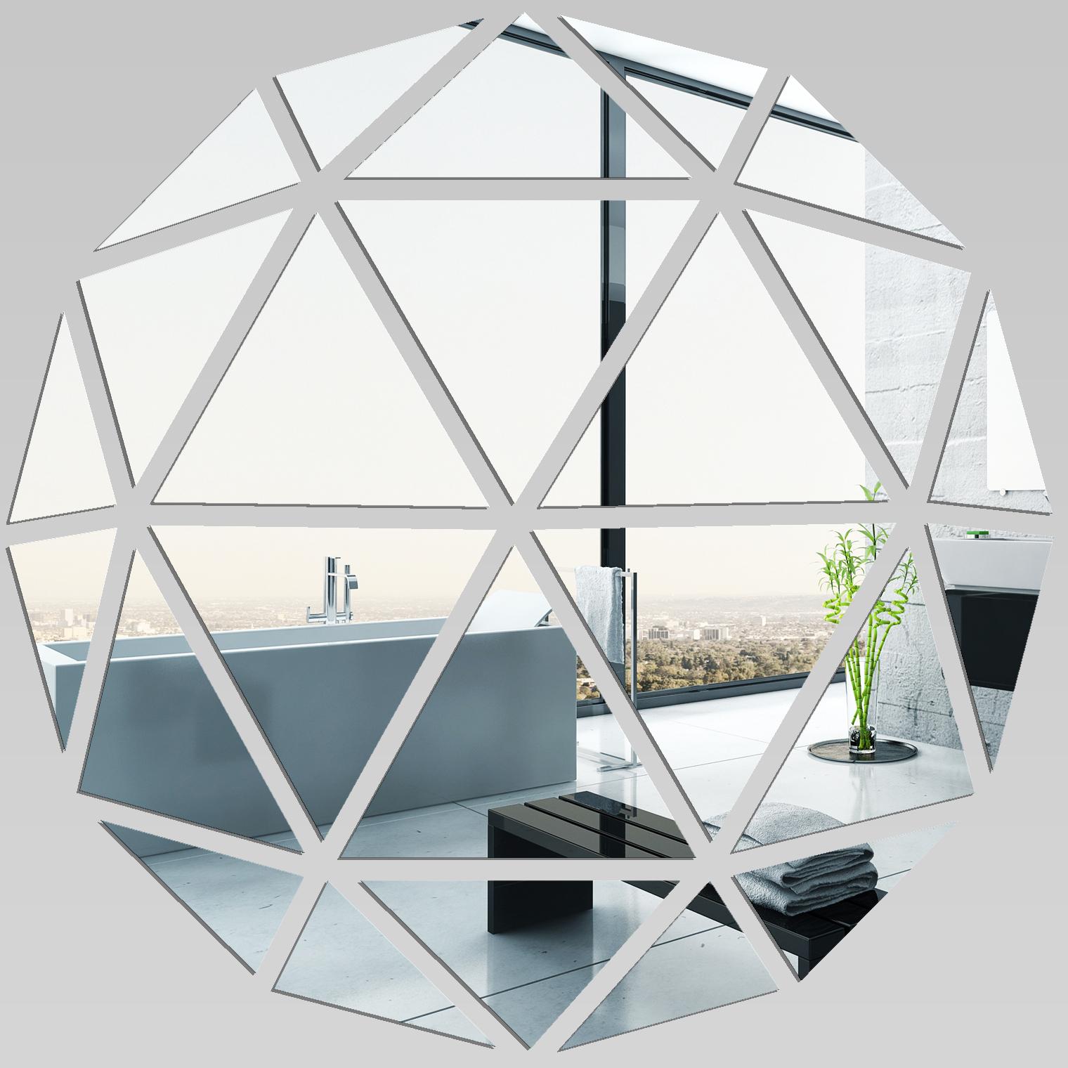 Miroir plexiglass acrylique mosa que en triangles pas cher for Miroir acrylique