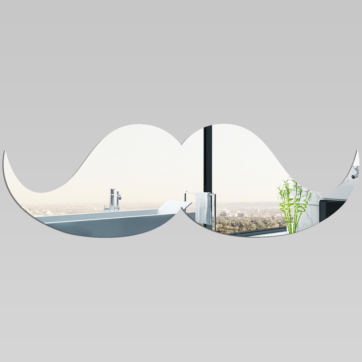 Miroir plexiglass acrylique moustache pas cher for Miroir acrylique