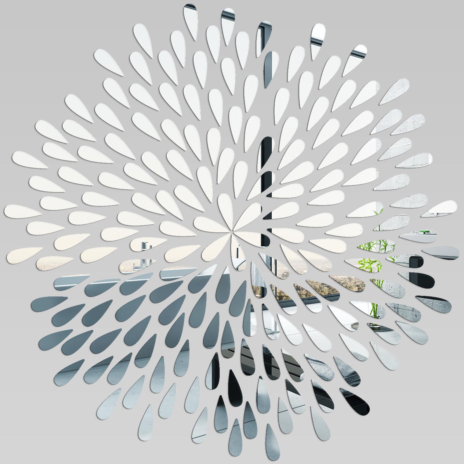 Miroir plexiglass acrylique p tales pas cher - Stickers miroir pas cher ...