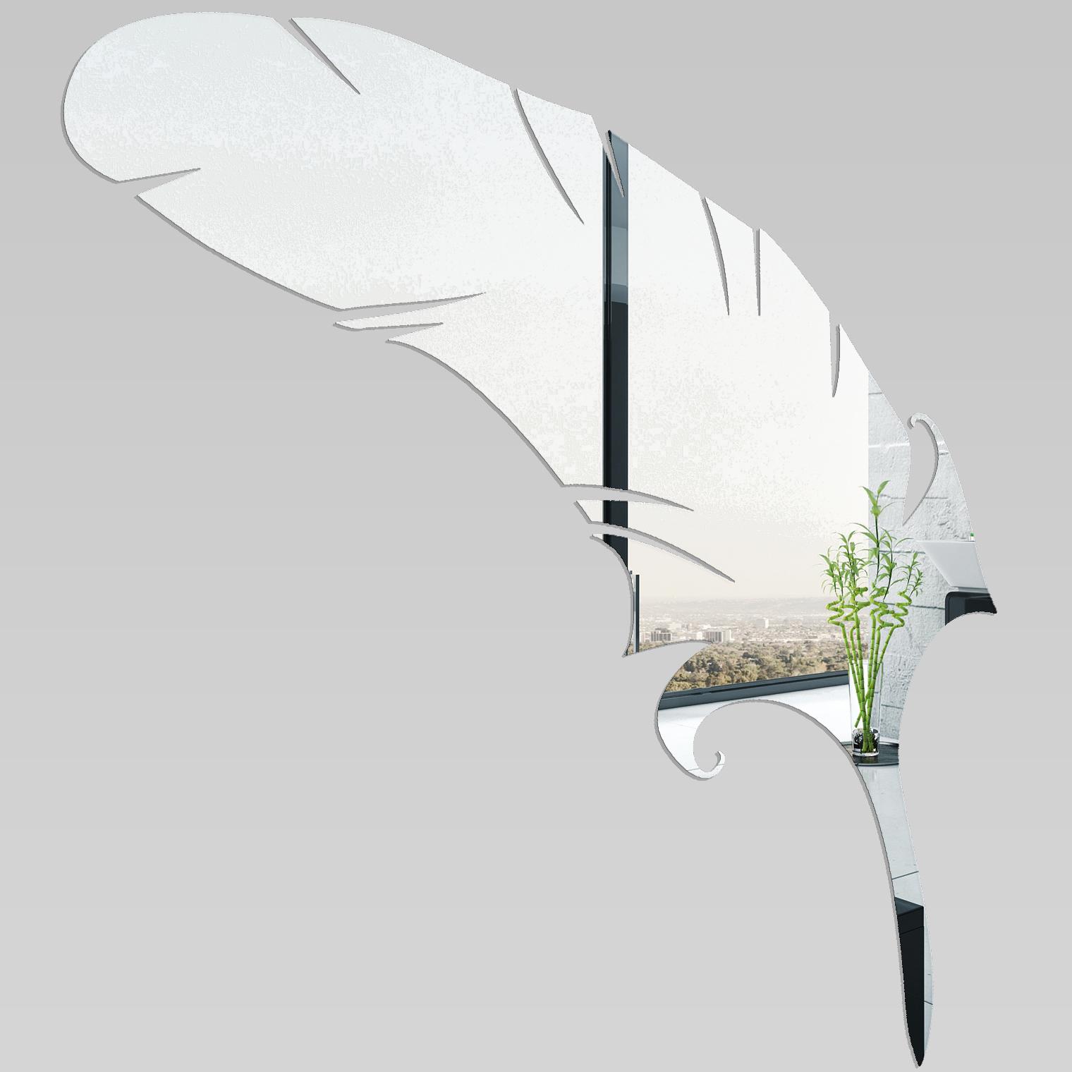 Miroir plexiglass acrylique plume 1 pas cher for Miroir acrylique