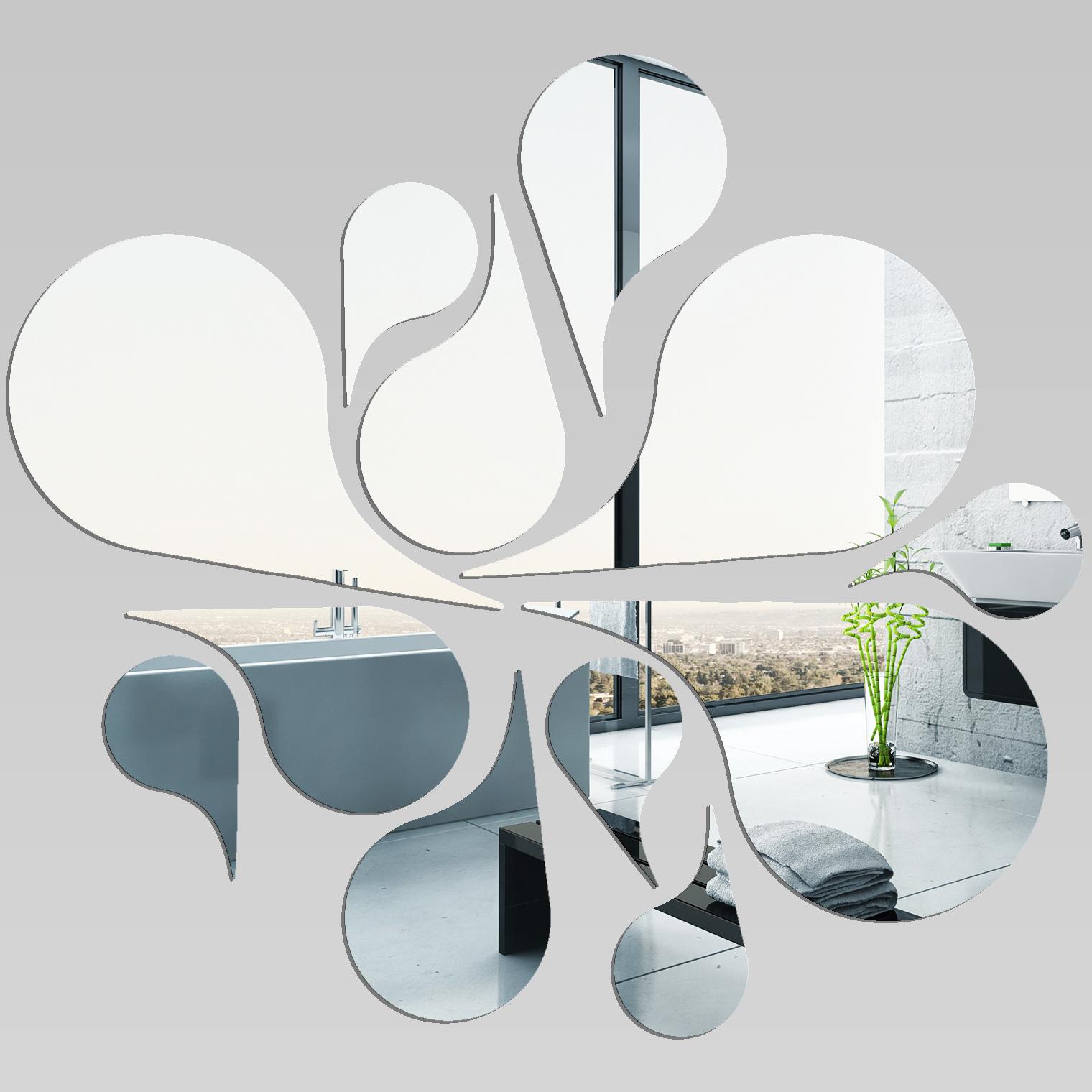 Miroir plexiglass acrylique plusieures gouttes pas cher - Stickers miroir pas cher ...