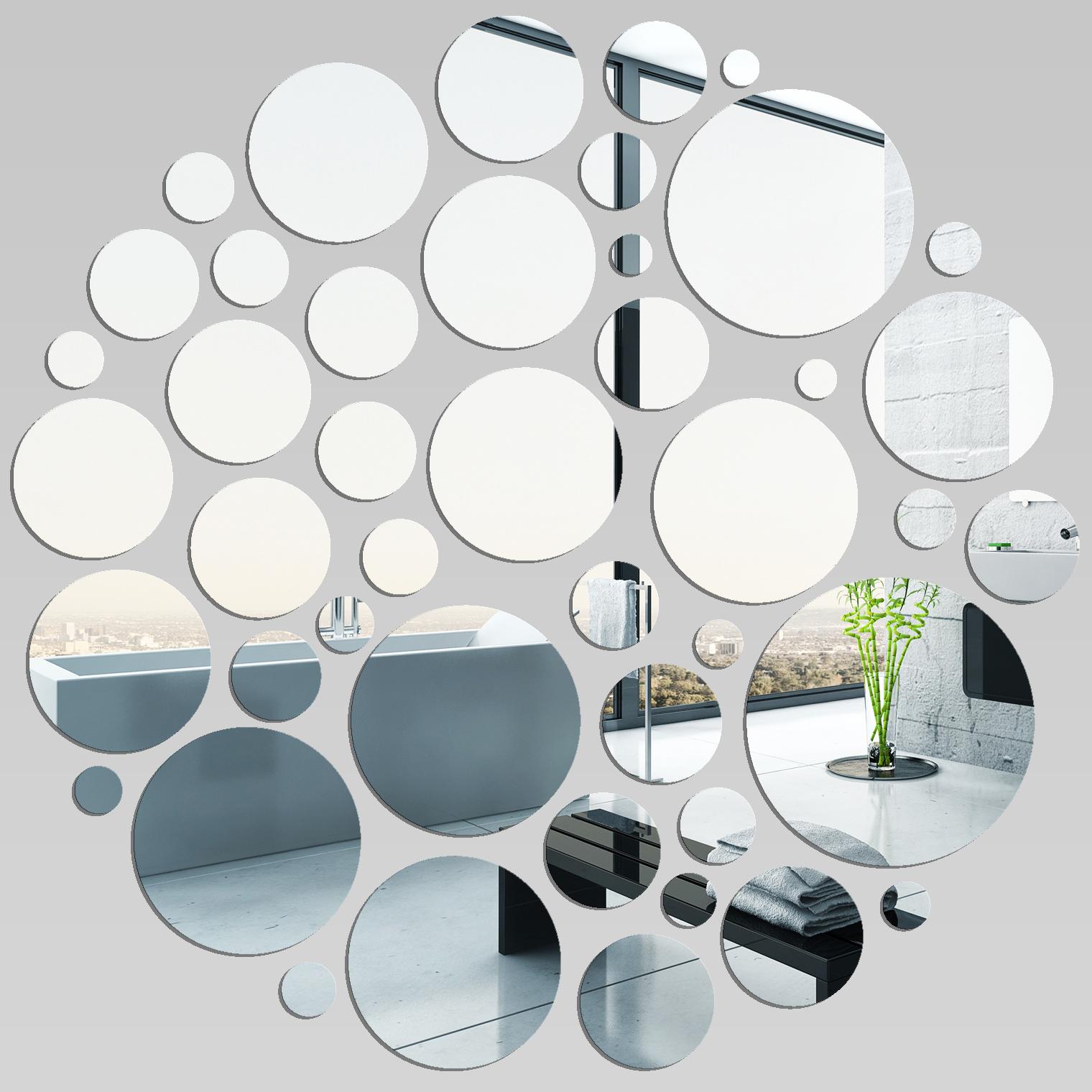 Miroir plexiglass acrylique points en folie pas cher for Miroir acrylique