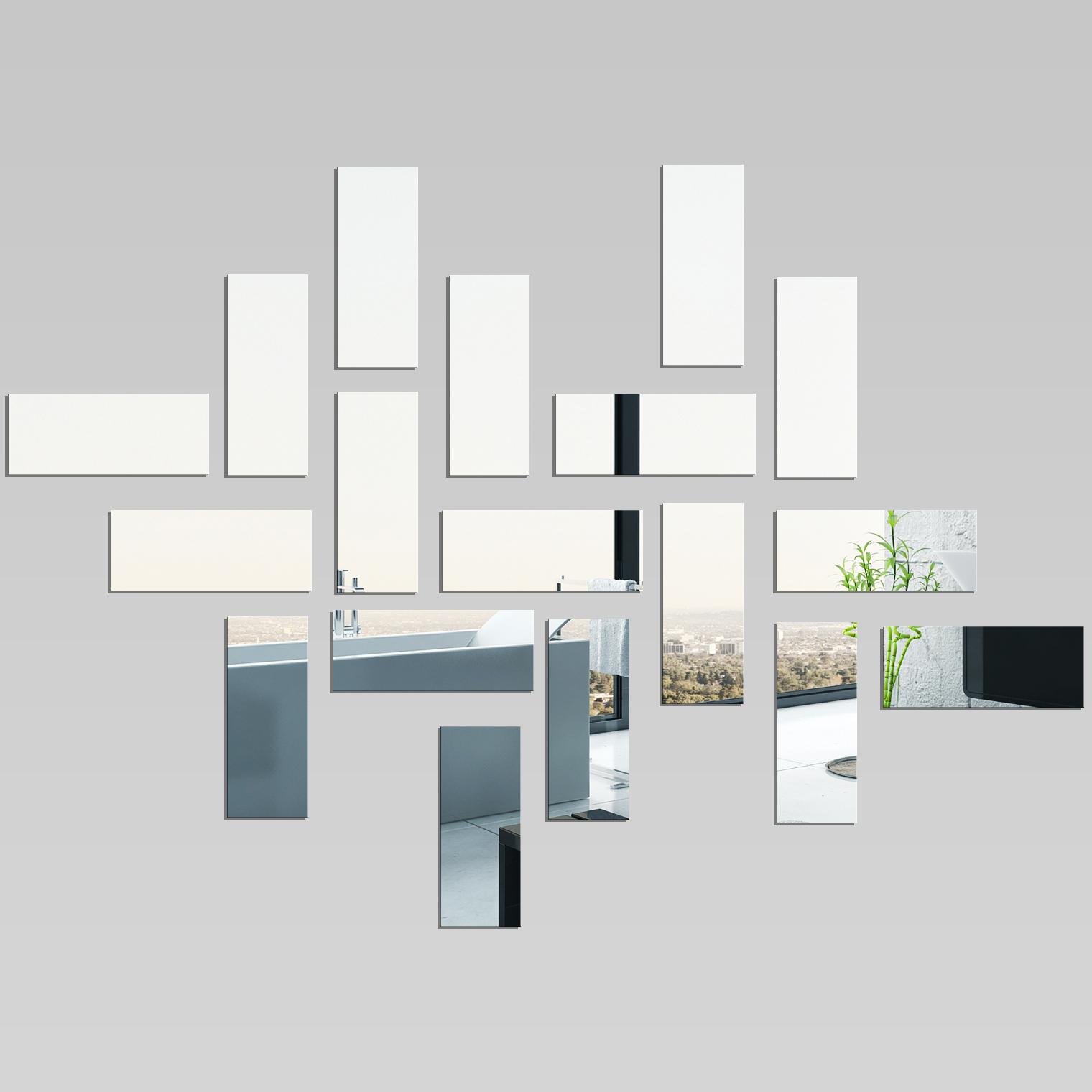 Miroir plexiglass acrylique rectanges pas cher for Miroir acrylique