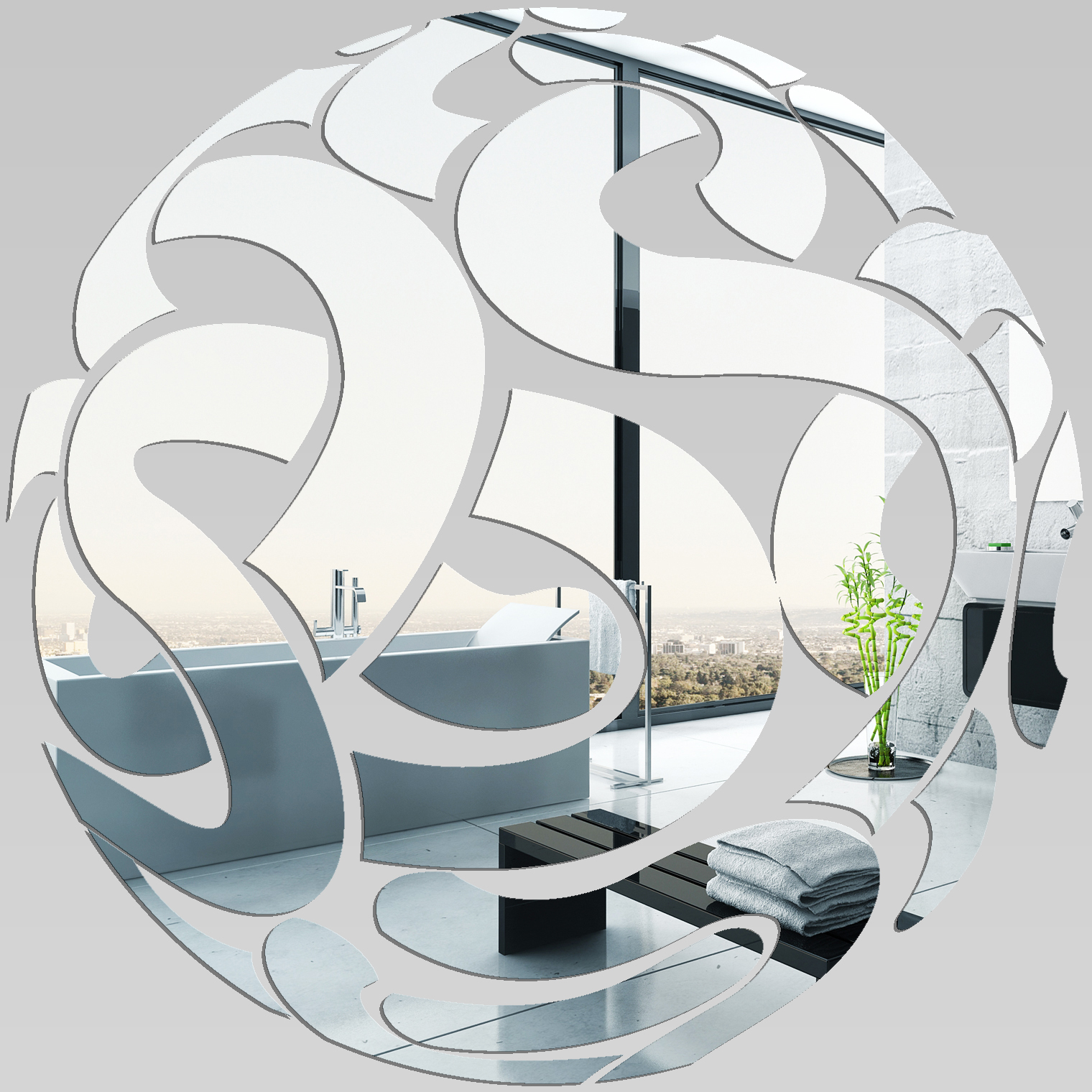 miroir plexiglass acrylique rond design pas cher. Black Bedroom Furniture Sets. Home Design Ideas