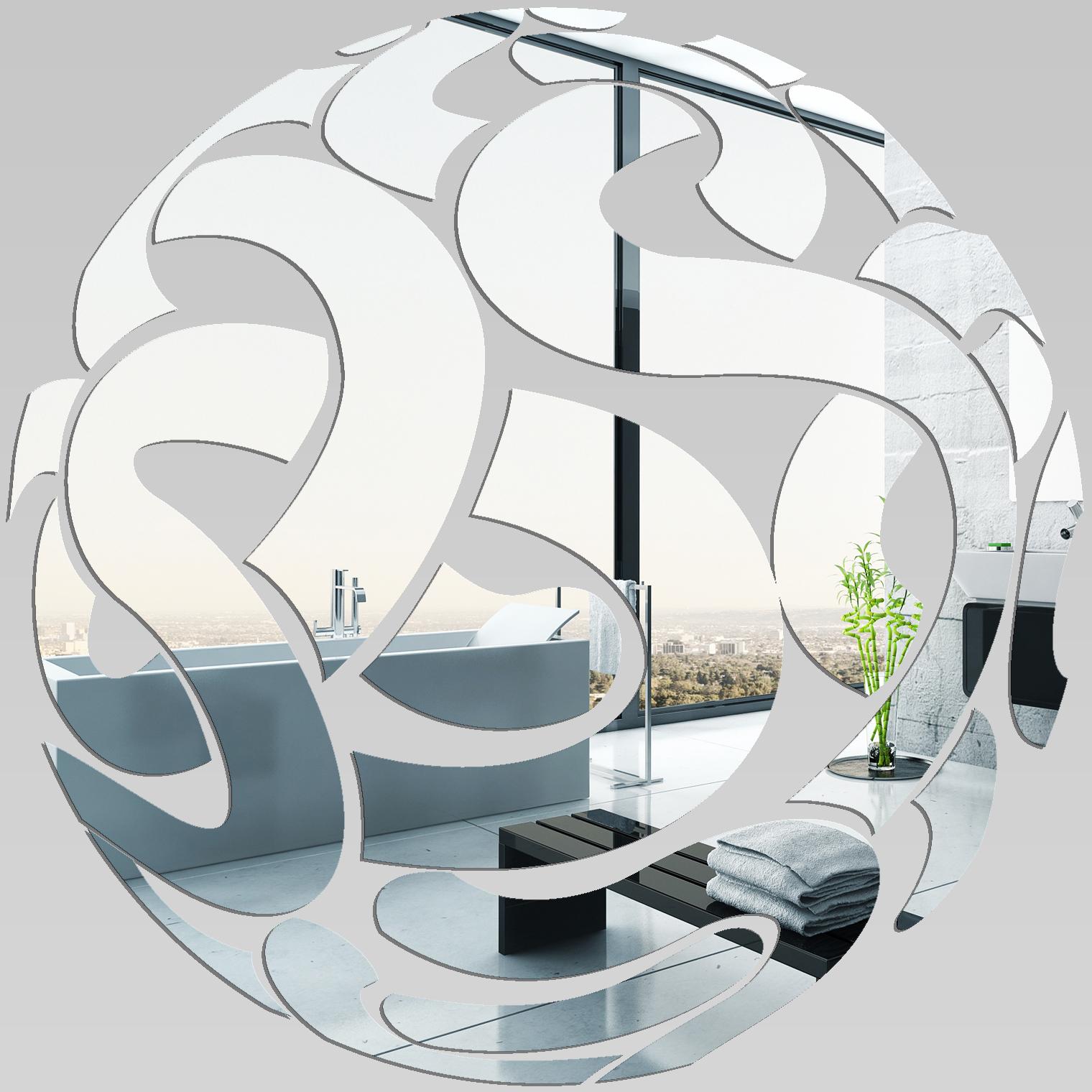 Miroir plexiglass acrylique rond design pas cher for Miroir blanc pas cher