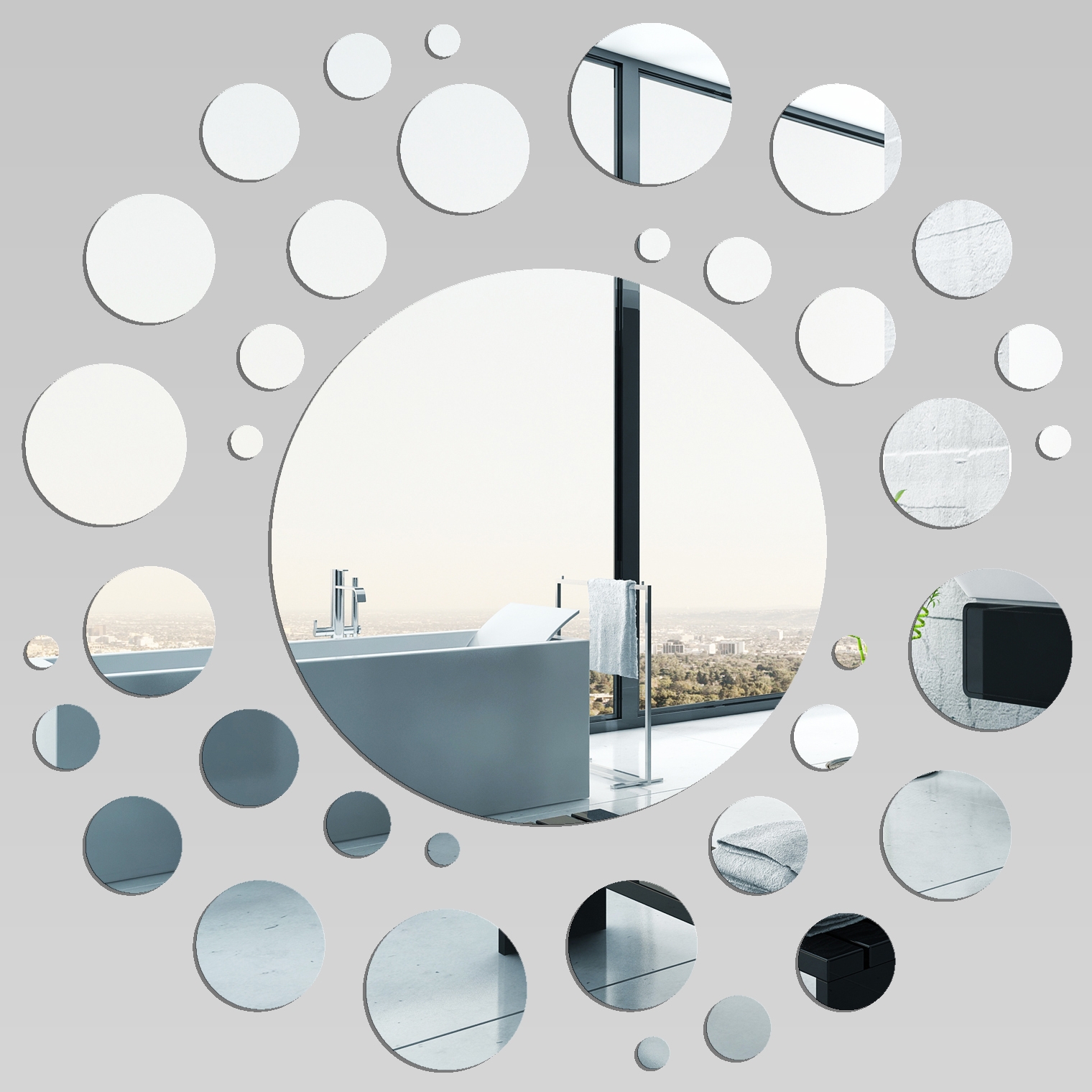 Miroir plexiglass acrylique spirale 2 pas cher for Miroir 90x90