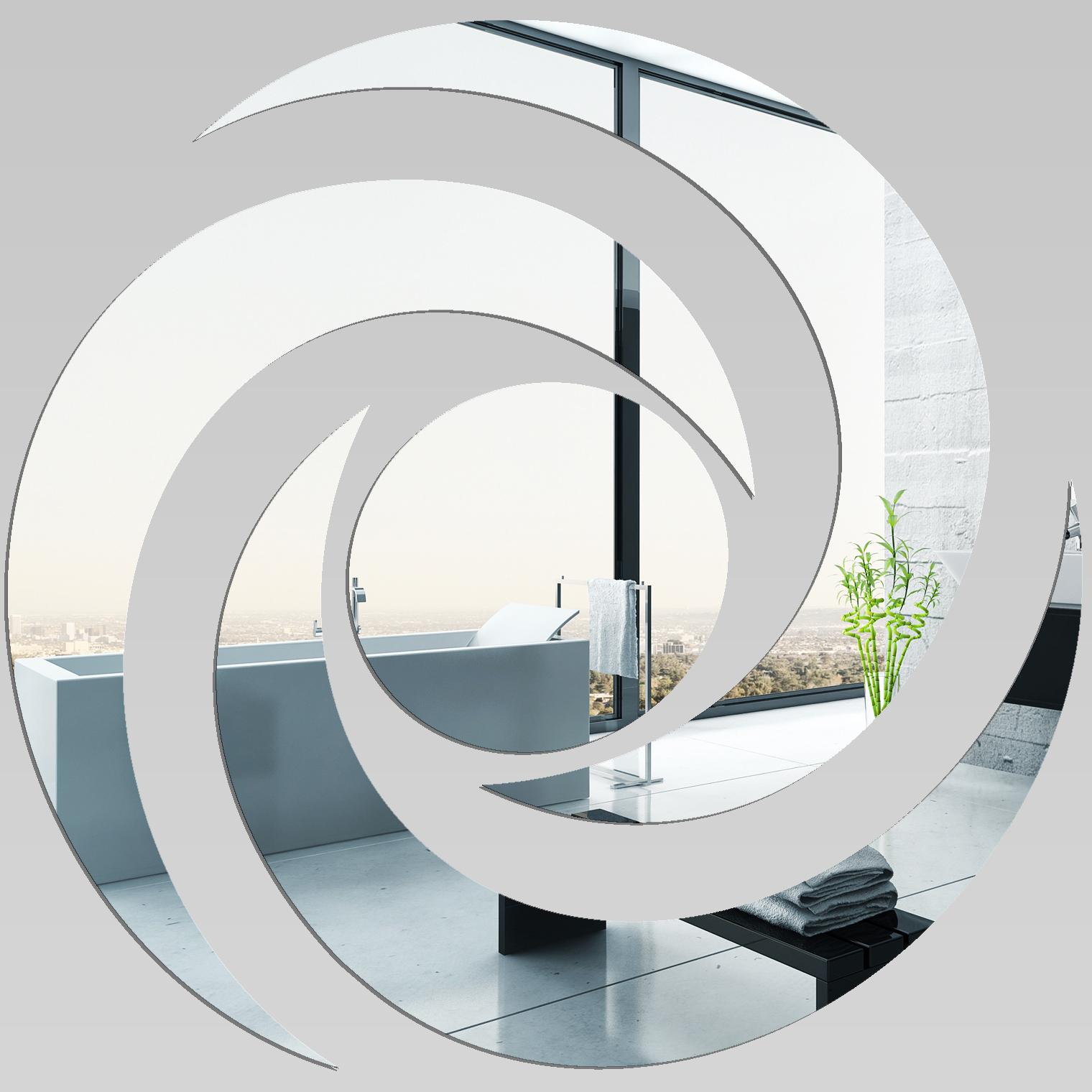Miroir plexiglass acrylique spirale 5 pas cher for Miroir en acrylique