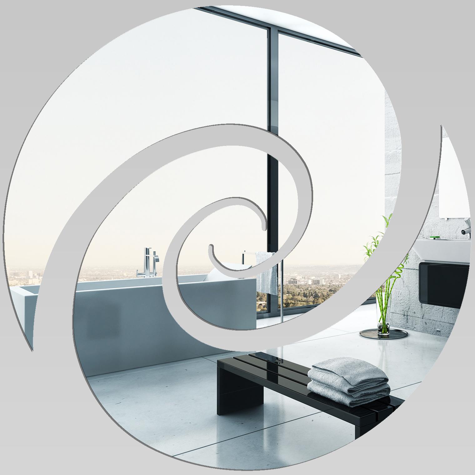 Miroir plexiglass acrylique spirale 7 pas cher for Miroir 70x70