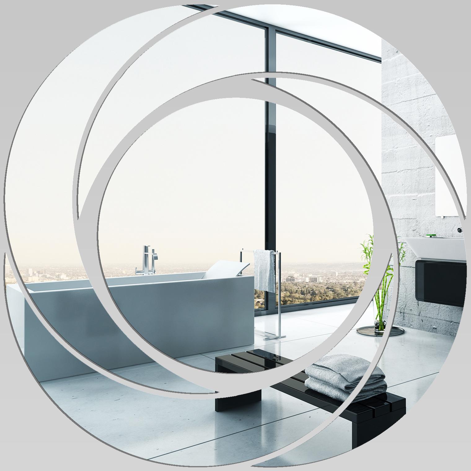 Miroir plexiglass acrylique spirales design 1 pas cher for Miroir 40x40