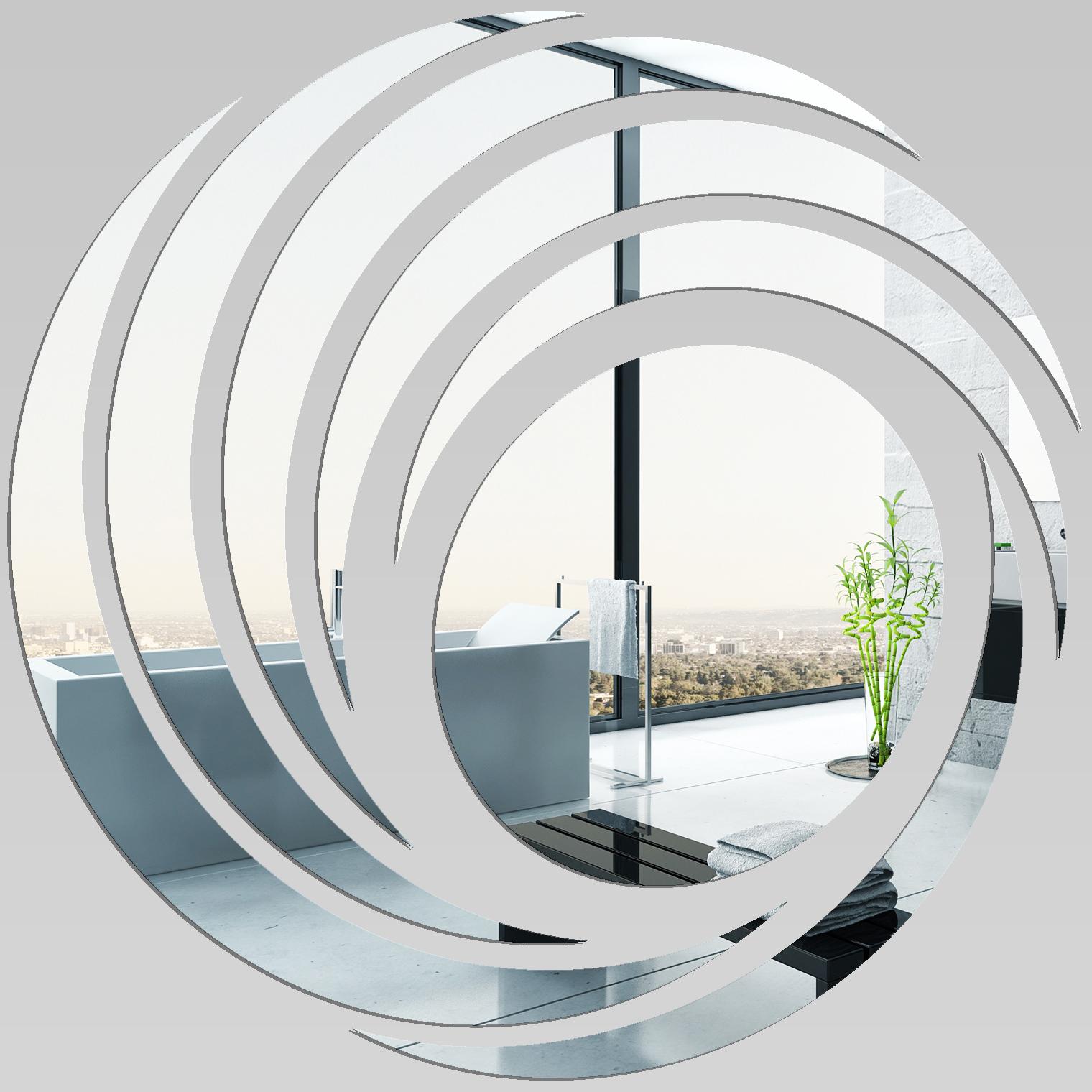 Miroir plexiglass acrylique spirales design pas cher for Stickers miroir pas cher