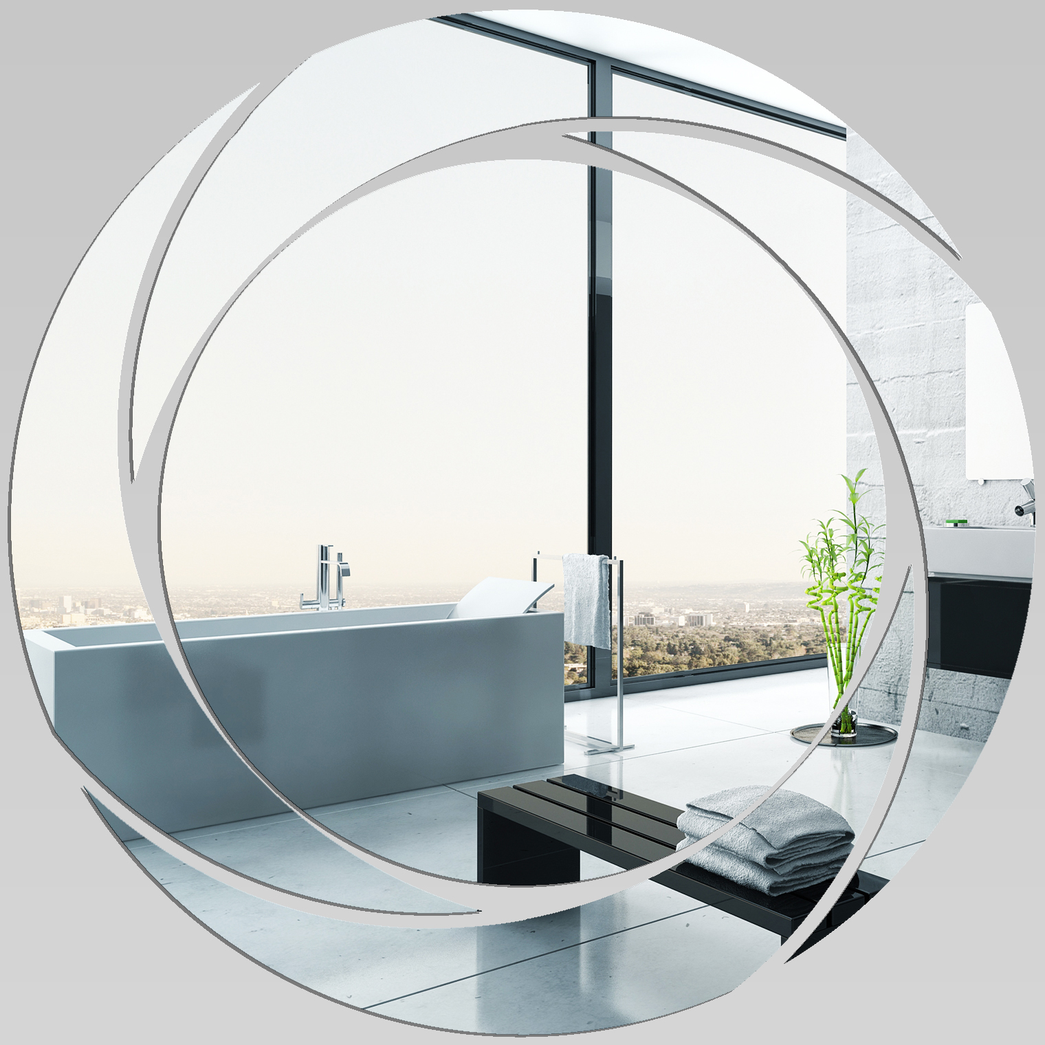 Miroir plexiglass acrylique spirales design 2 pas cher for Miroir 40x40