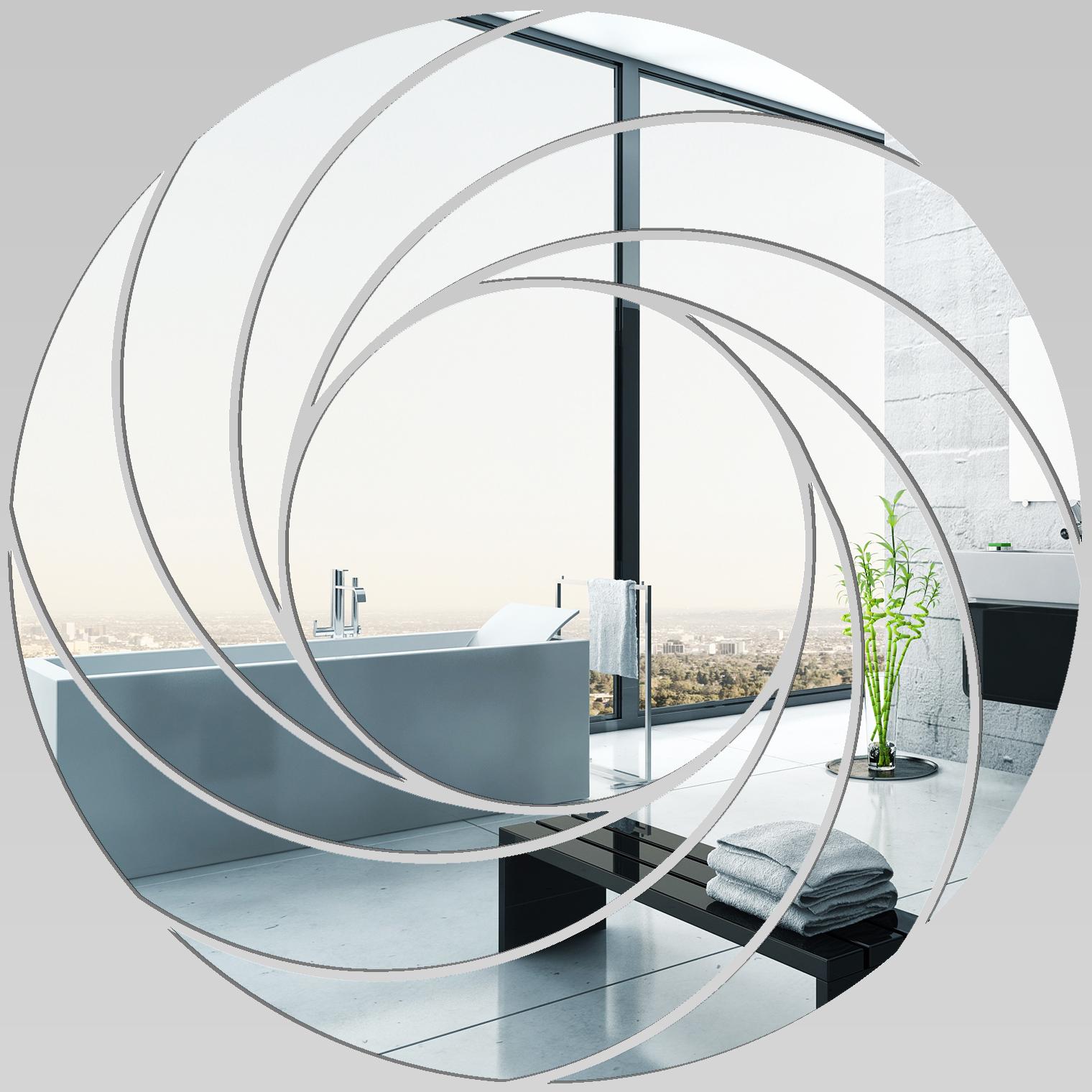 Miroir plexiglass acrylique spirales design 5 pas cher for Miroir 80x80