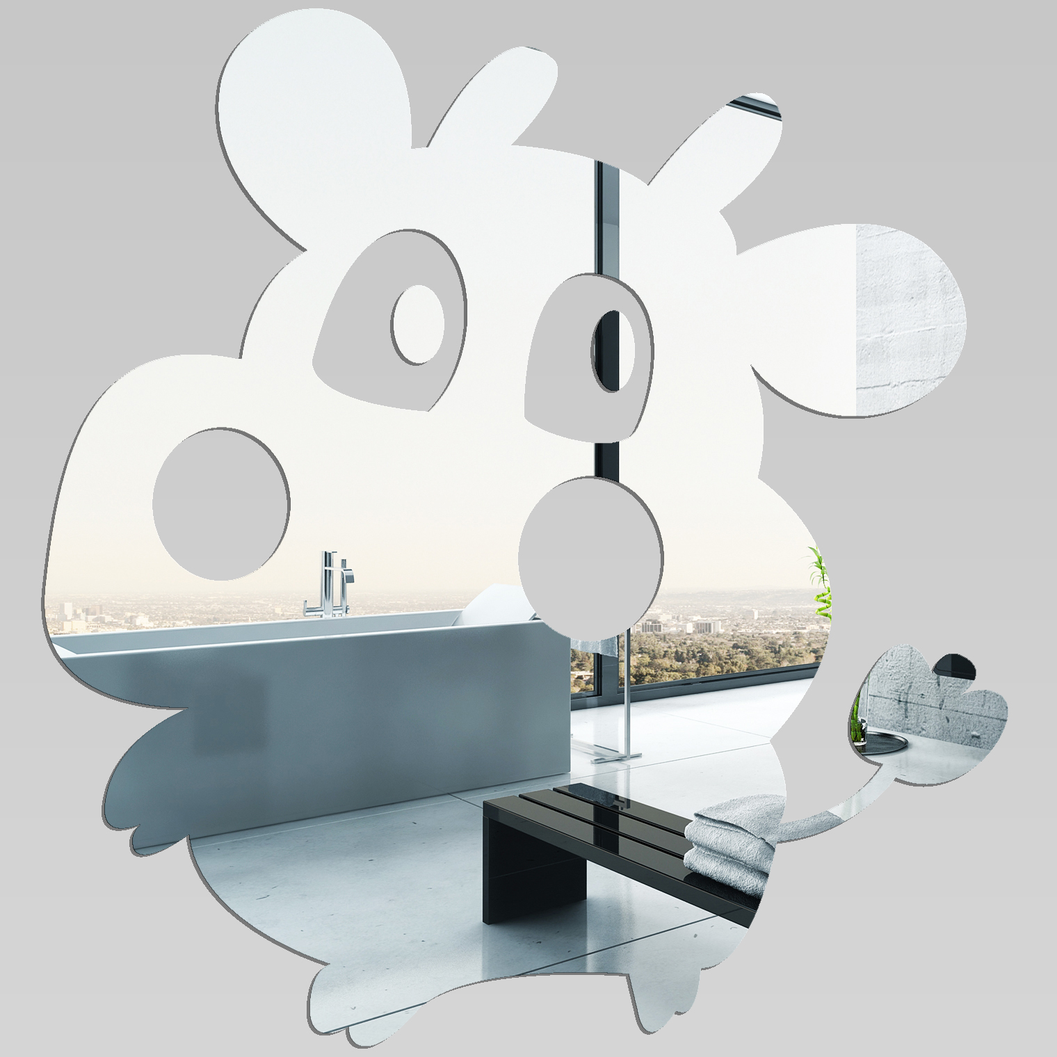 Miroir plexiglass acrylique vache pas cher for Miroir acrylique
