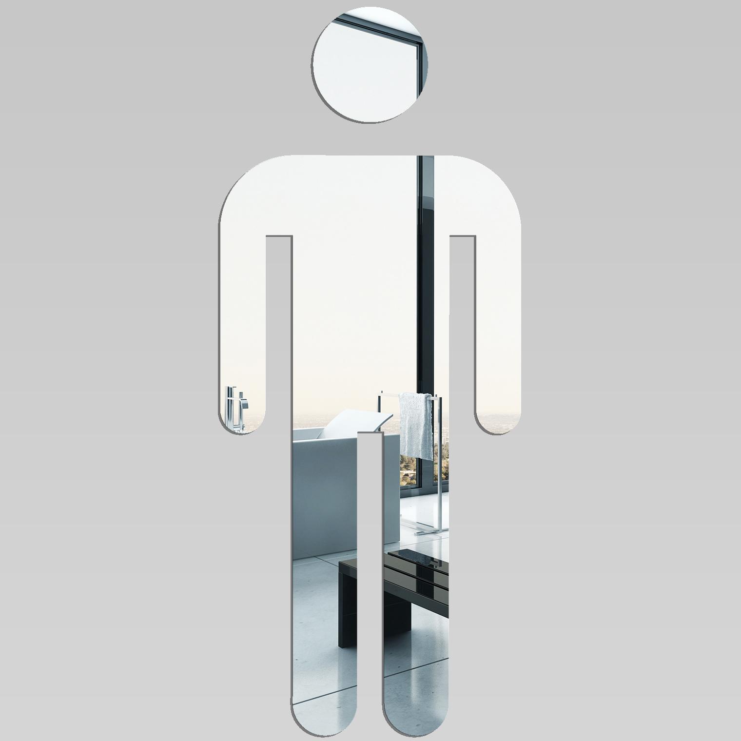 Miroir plexiglass acrylique wc homme pas cher for Miroir en acrylique