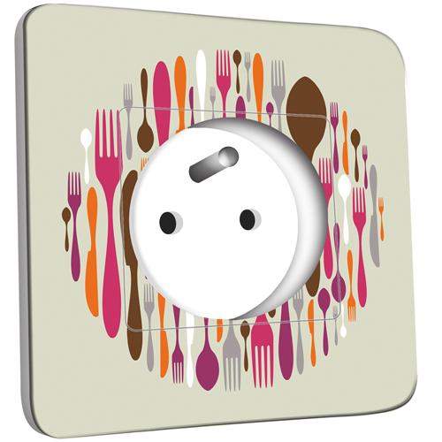 Prise d cor e cuisine couverts design 2 pas cher for Prise design cuisine