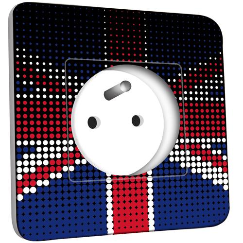 Prise d cor e motif drapeau anglais design zoom pas cher - Prise electrique en anglais ...