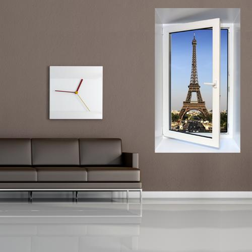 sticker fen tre trompe l 39 oeil 58 pas cher. Black Bedroom Furniture Sets. Home Design Ideas