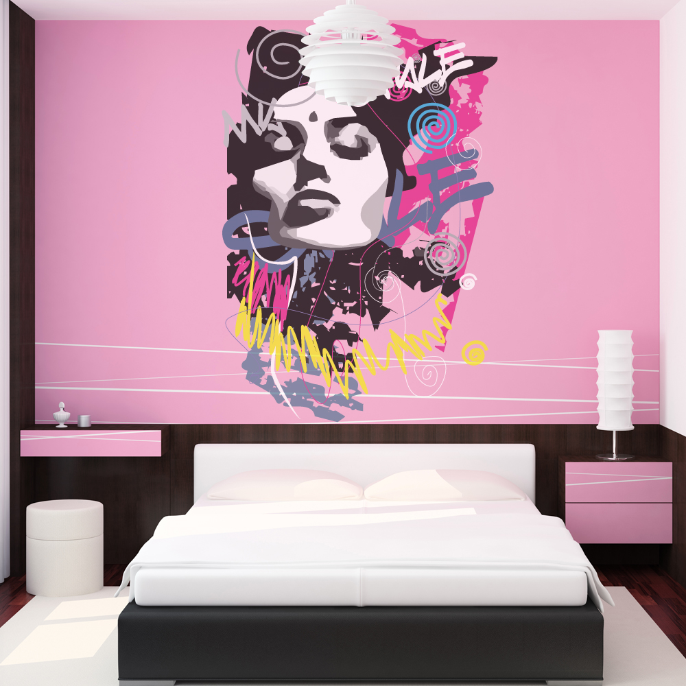 stickers ado style pas cher. Black Bedroom Furniture Sets. Home Design Ideas