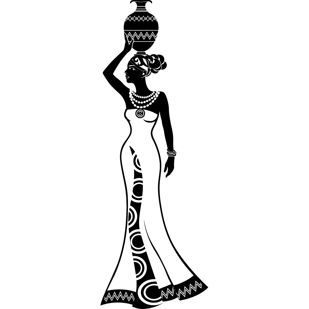 Stickers africaine pas cher - Africaine dessin ...