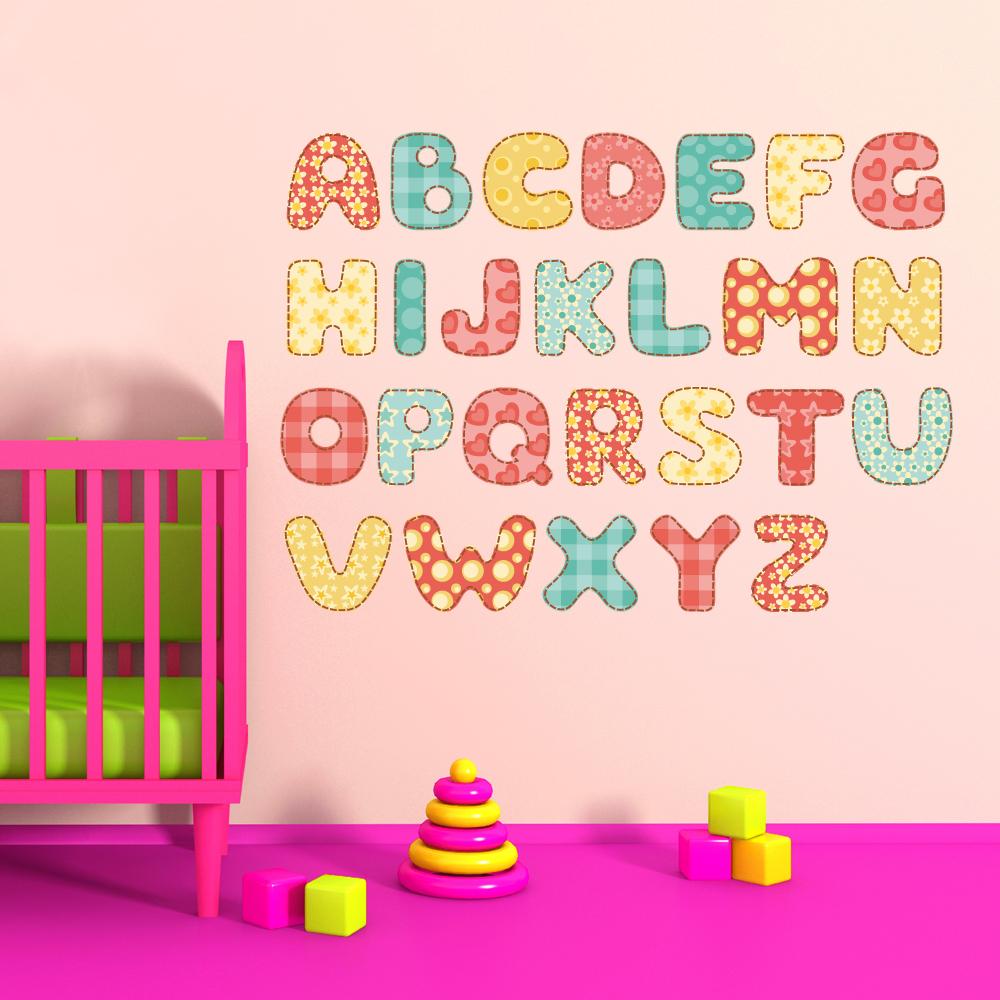 stickers alphabet pas cher. Black Bedroom Furniture Sets. Home Design Ideas