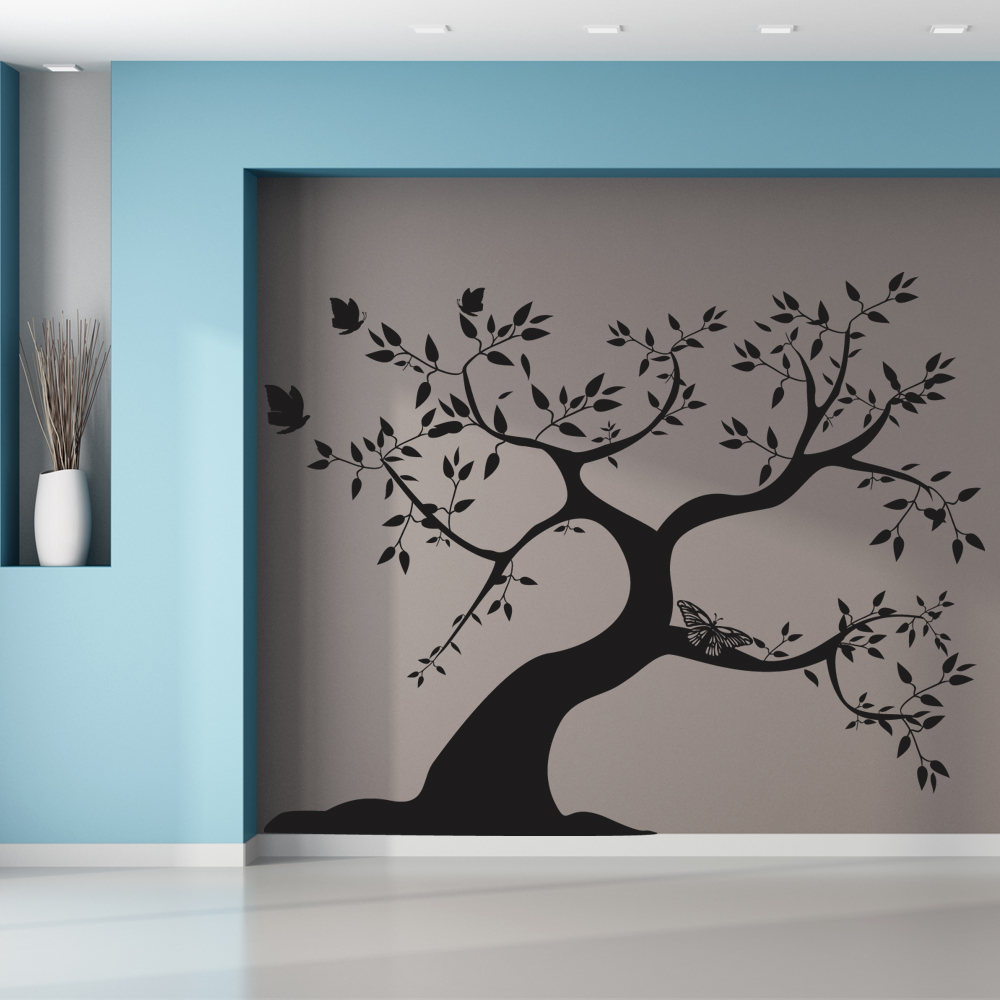 stickers arbre pas cher. Black Bedroom Furniture Sets. Home Design Ideas