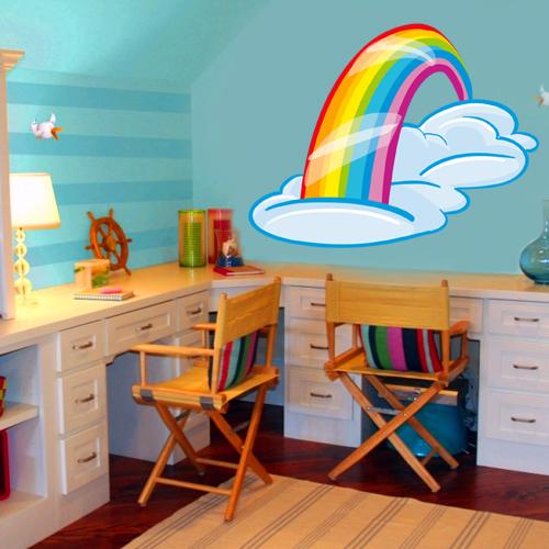 stickers arc en ciel pas cher. Black Bedroom Furniture Sets. Home Design Ideas