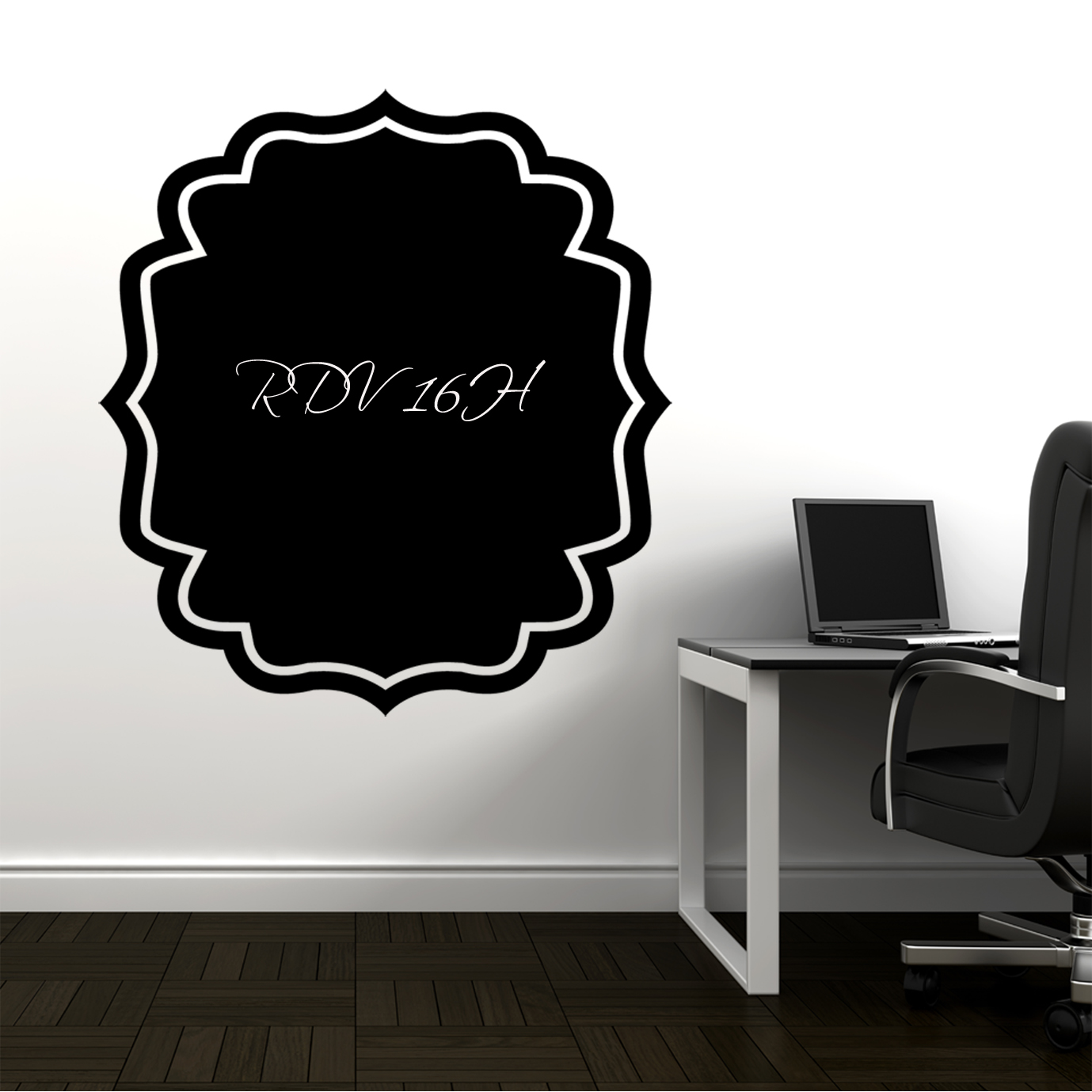 stickers ardoise cadre pas cher. Black Bedroom Furniture Sets. Home Design Ideas