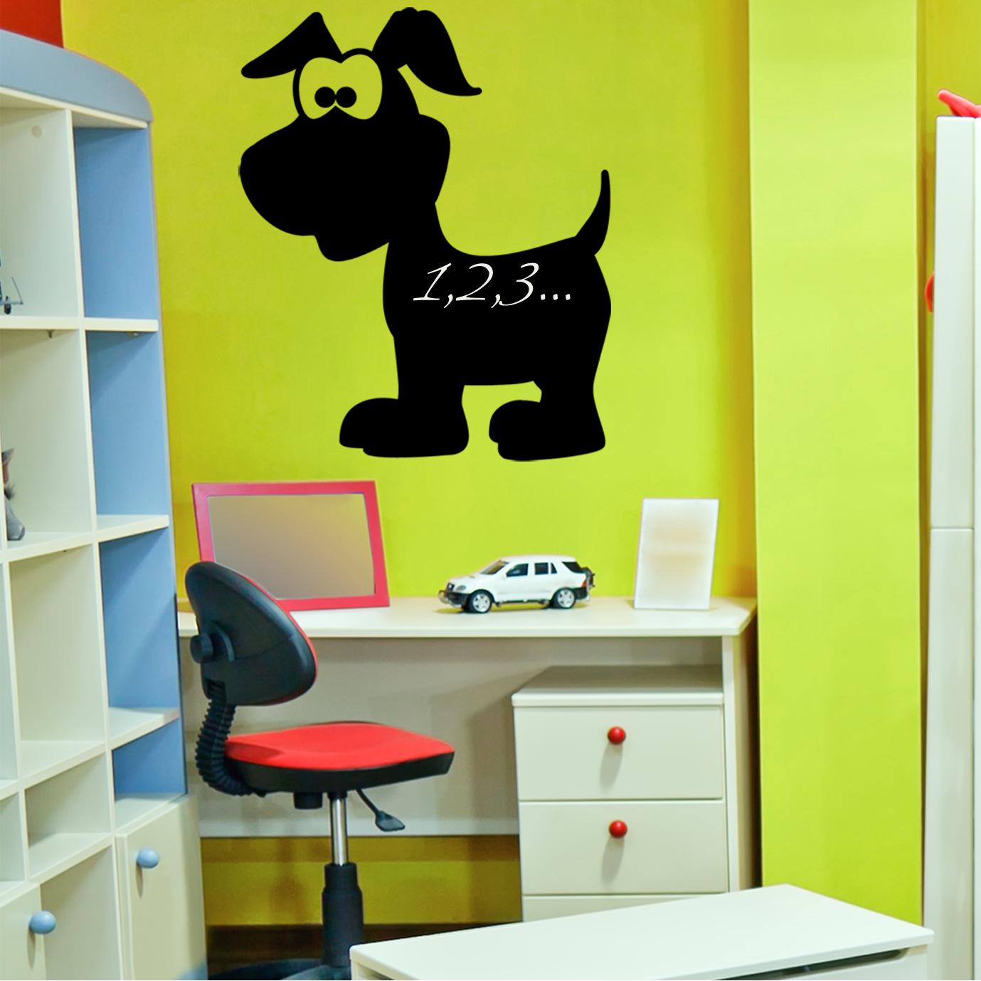 stickers ardoise chien pas cher. Black Bedroom Furniture Sets. Home Design Ideas