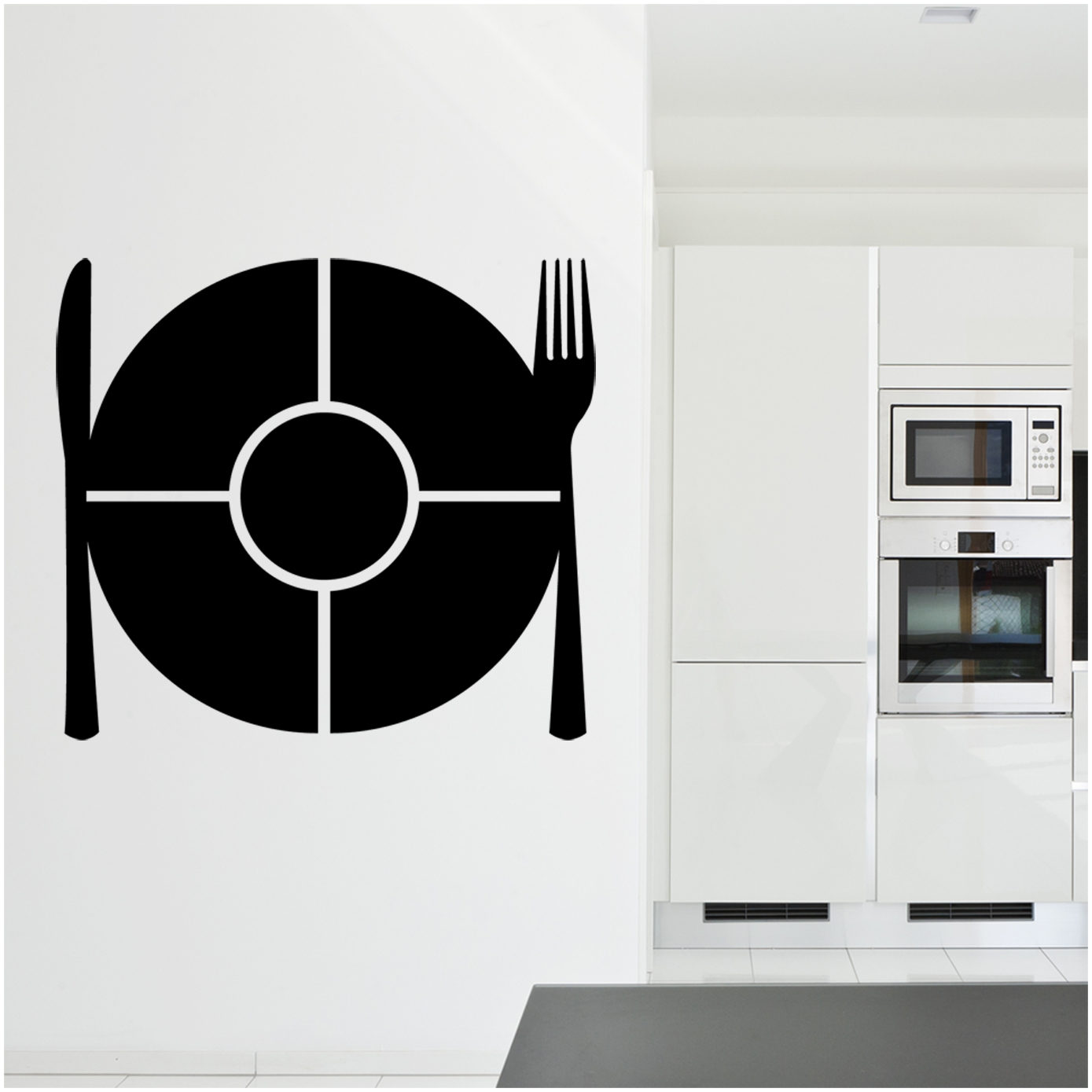 Pin cher stickers muraux couverts cuisine miroir on pinterest for Stickers miroir cuisine