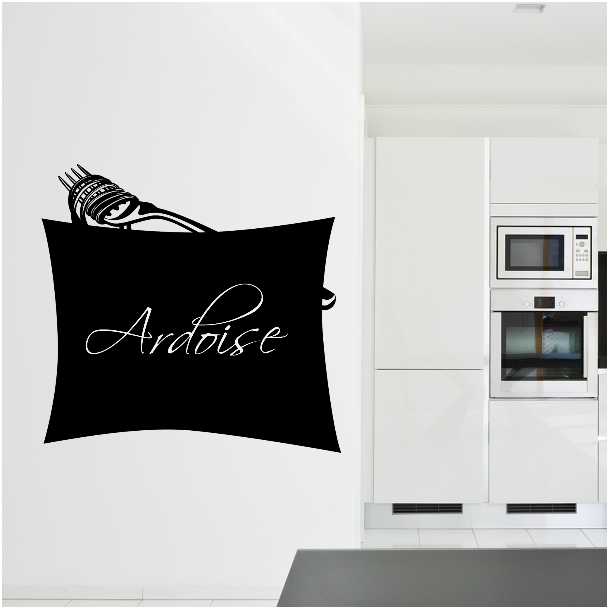 stickers ardoise fourchette pas cher. Black Bedroom Furniture Sets. Home Design Ideas