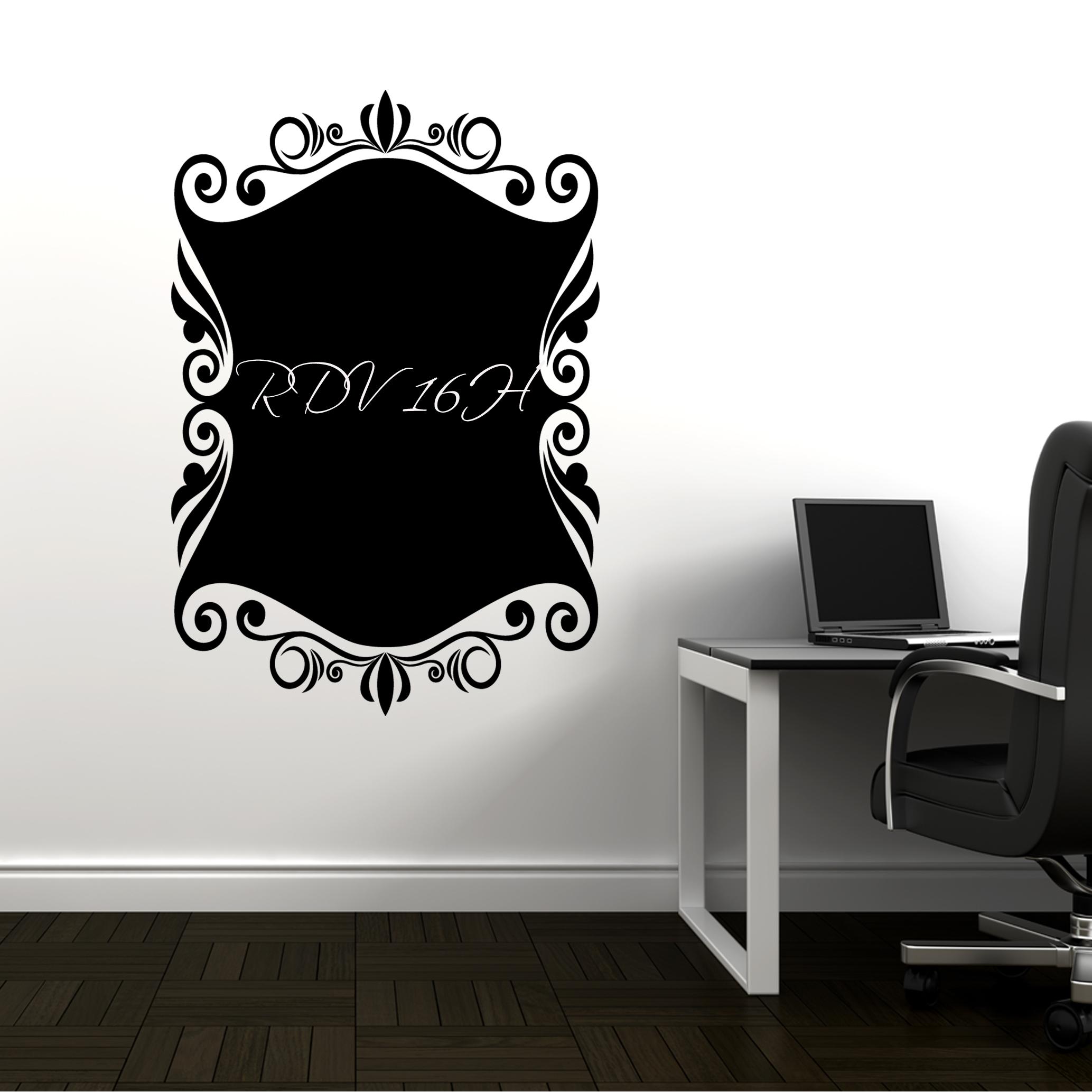 stickers ardoise ornement pas cher. Black Bedroom Furniture Sets. Home Design Ideas