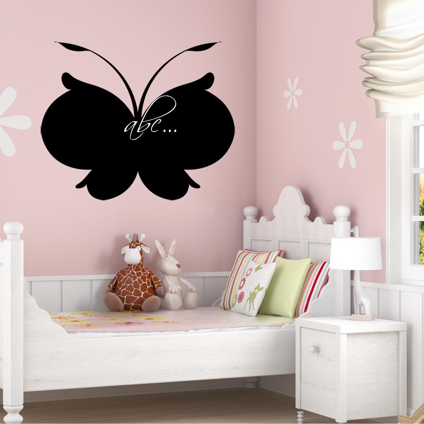 stickers ardoise papillon pas cher. Black Bedroom Furniture Sets. Home Design Ideas