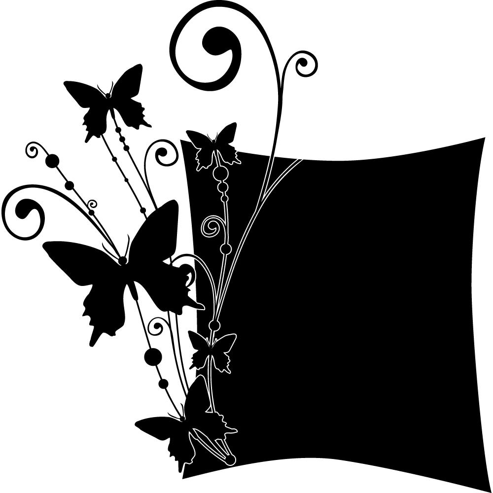 stickers ardoise papillons pas cher. Black Bedroom Furniture Sets. Home Design Ideas