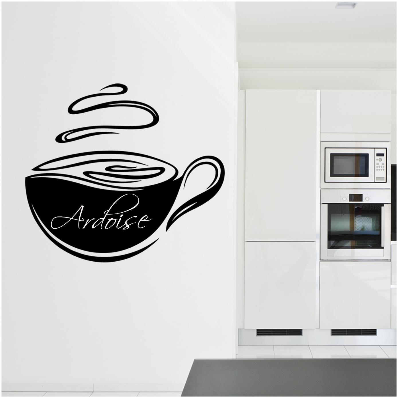 stickers ardoise tasse caf pas cher. Black Bedroom Furniture Sets. Home Design Ideas