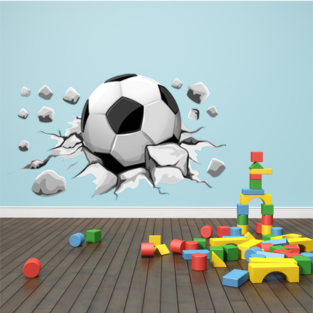 stickers ballon de foot pas cher. Black Bedroom Furniture Sets. Home Design Ideas