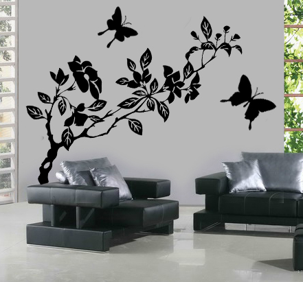 stickers banche papillons pas cher. Black Bedroom Furniture Sets. Home Design Ideas