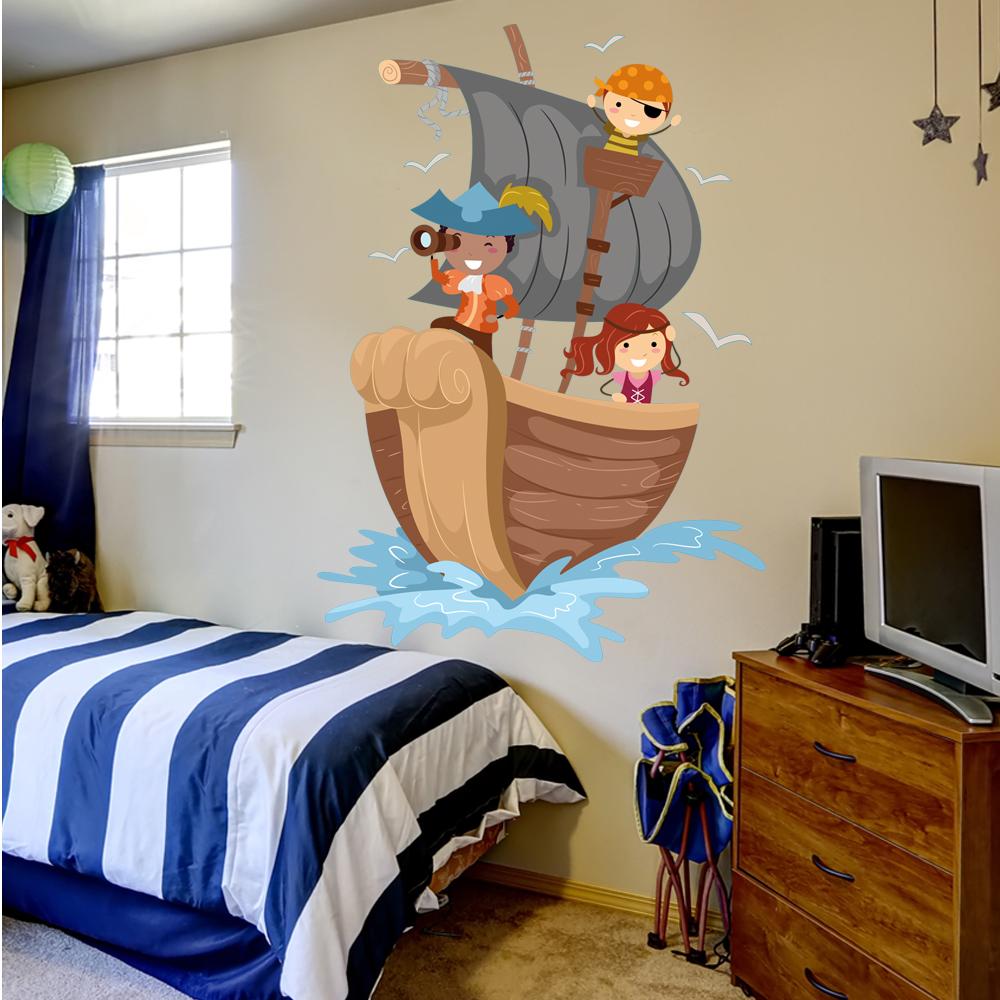 Stickers bateau pirate pas cher - Image bateau pirate ...