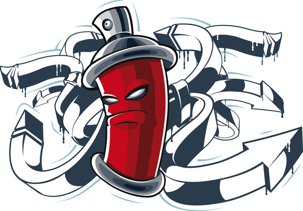 Stickers bombe peinture pas cher - Bombe de graffiti ...