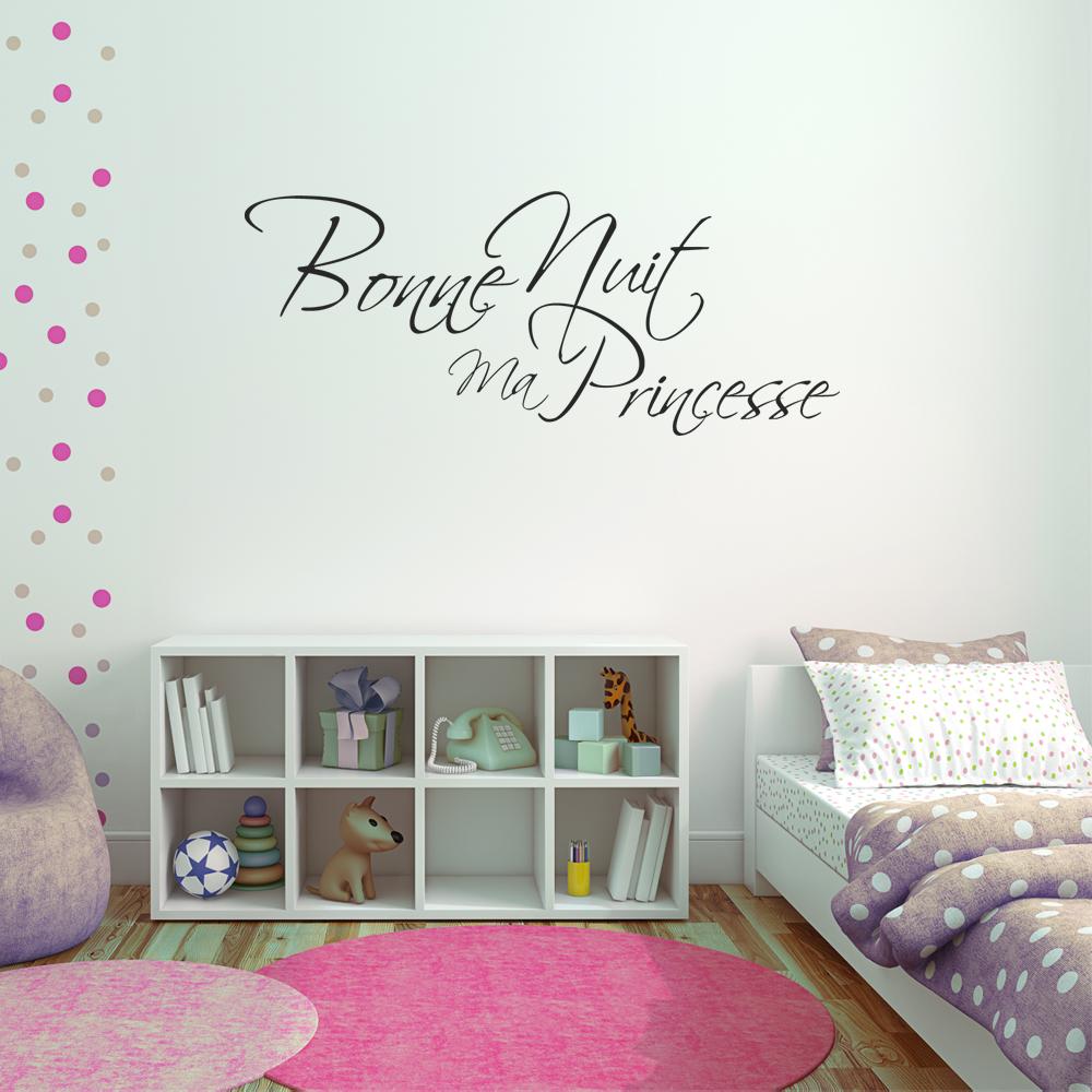 Stickers Bonne Nuit Princesse Pas Cher